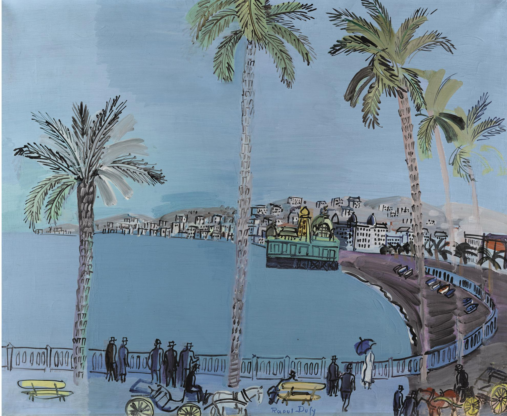 Raoul Dufy-La Baie Des Anges A Nice-1926
