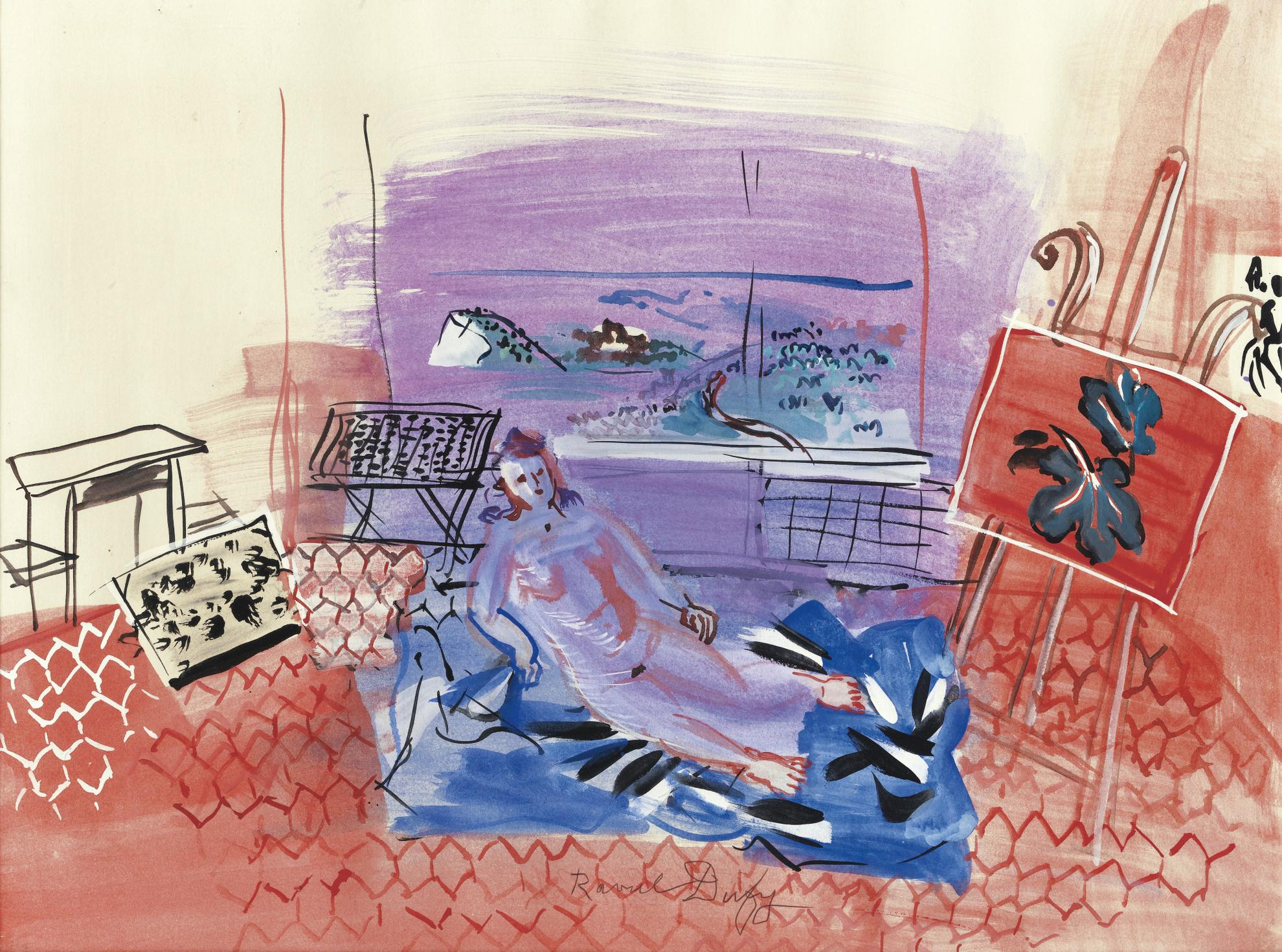 Raoul Dufy-Latelier A Vence-1945