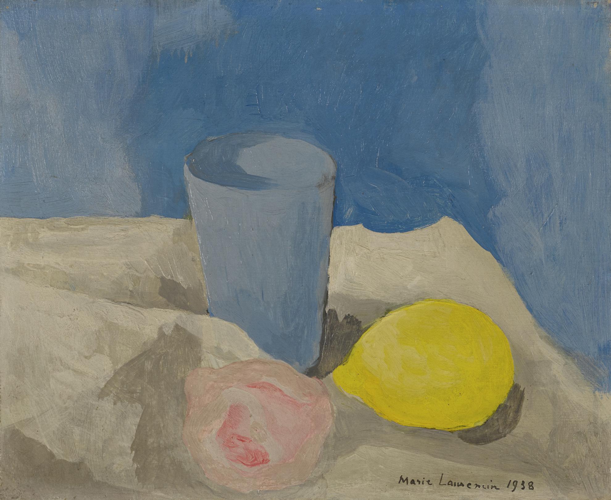 Marie Laurencin-Nature Morte Au Goblet Et Au Citron-1938