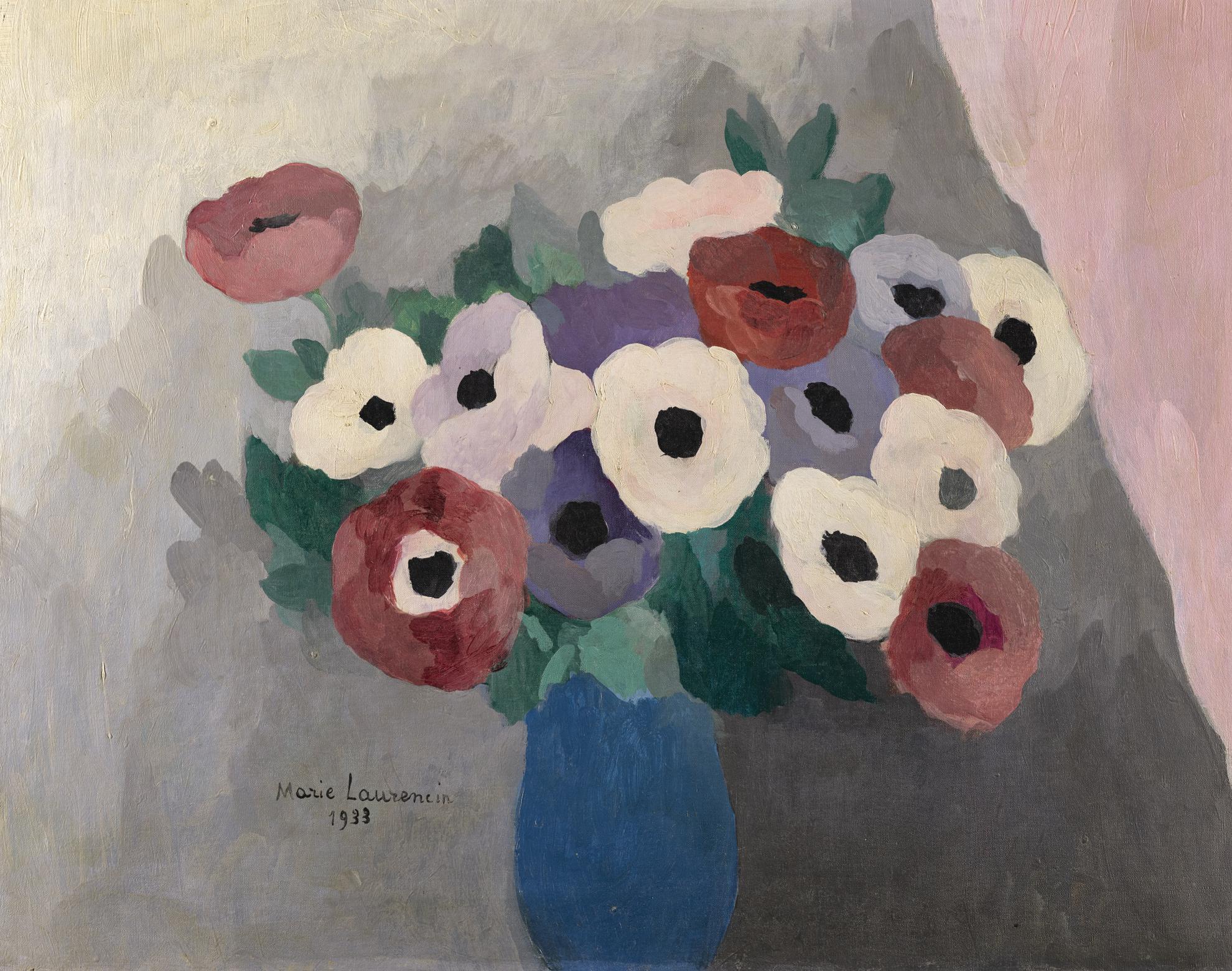 Marie Laurencin-Anemones Dans Un Vase Bleu-1933