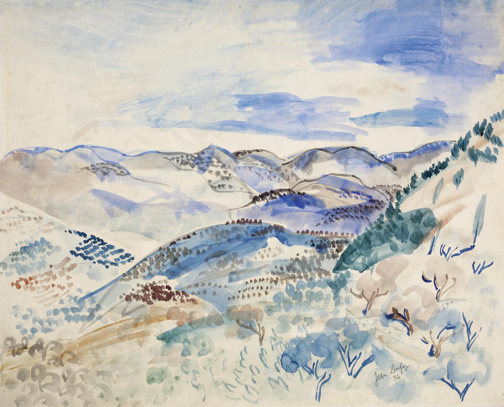 Jean Dufy-Paysage-1926