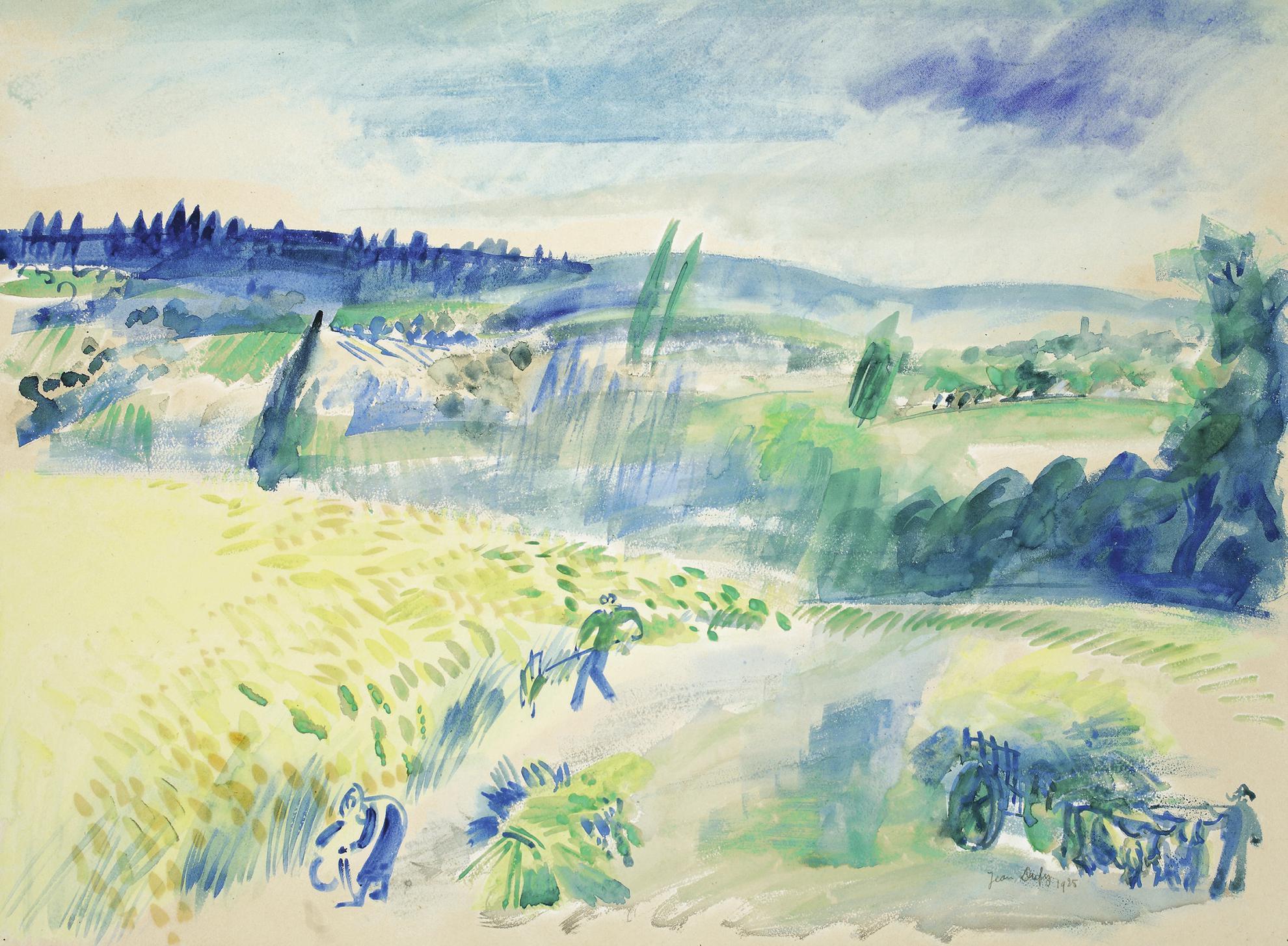 Jean Dufy-Les Moissonneurs-1925