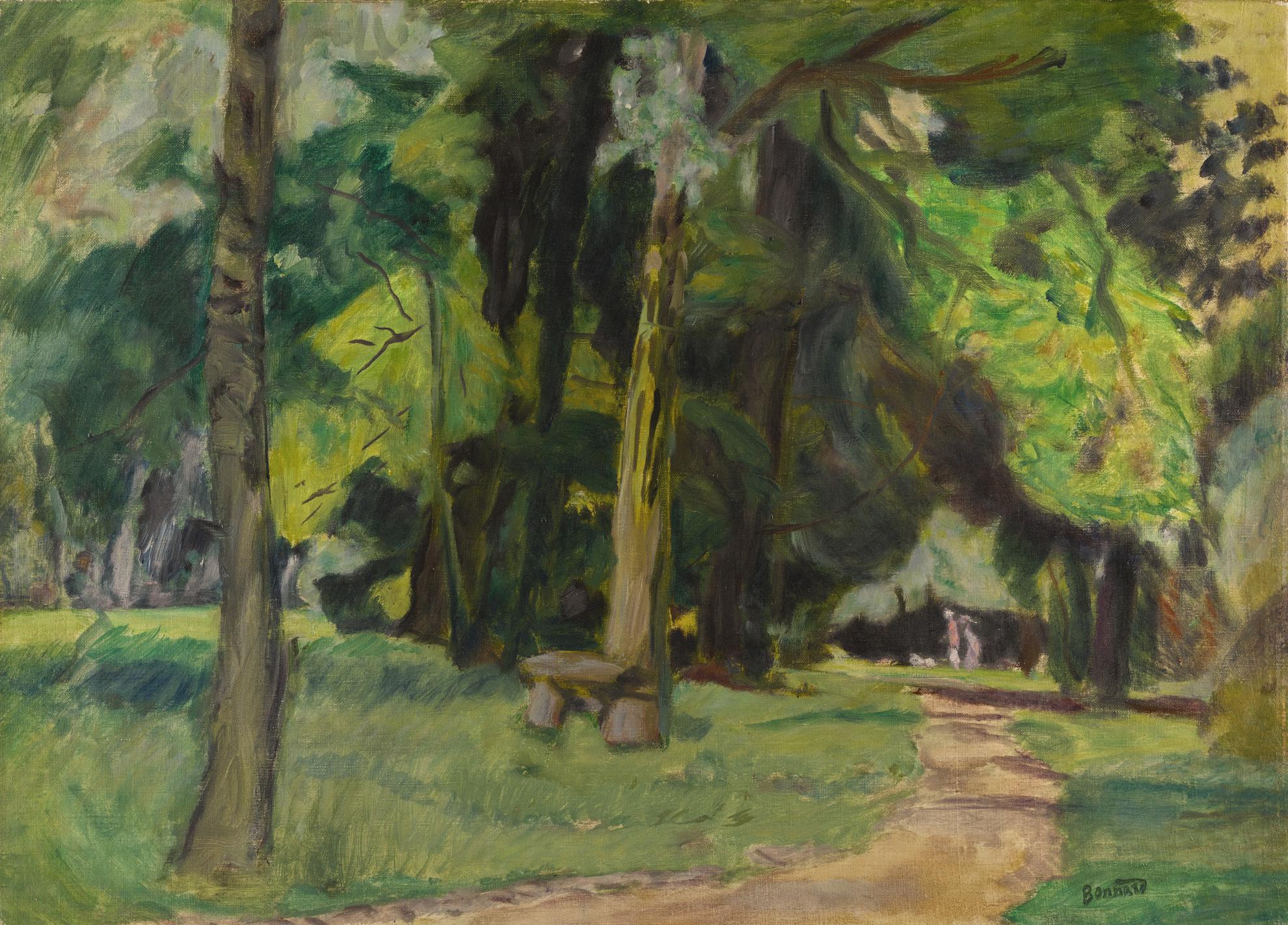 Pierre Bonnard-Promenade Au Bois, Banc Dans Un Parc-1923