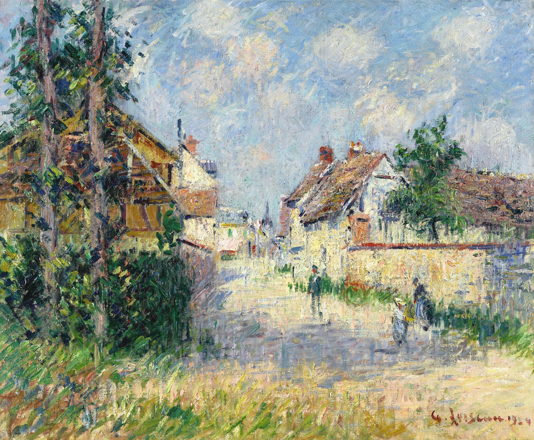 Gustave Loiseau-Rue A Saint-Cyr-Du-Vaudreuil-1924