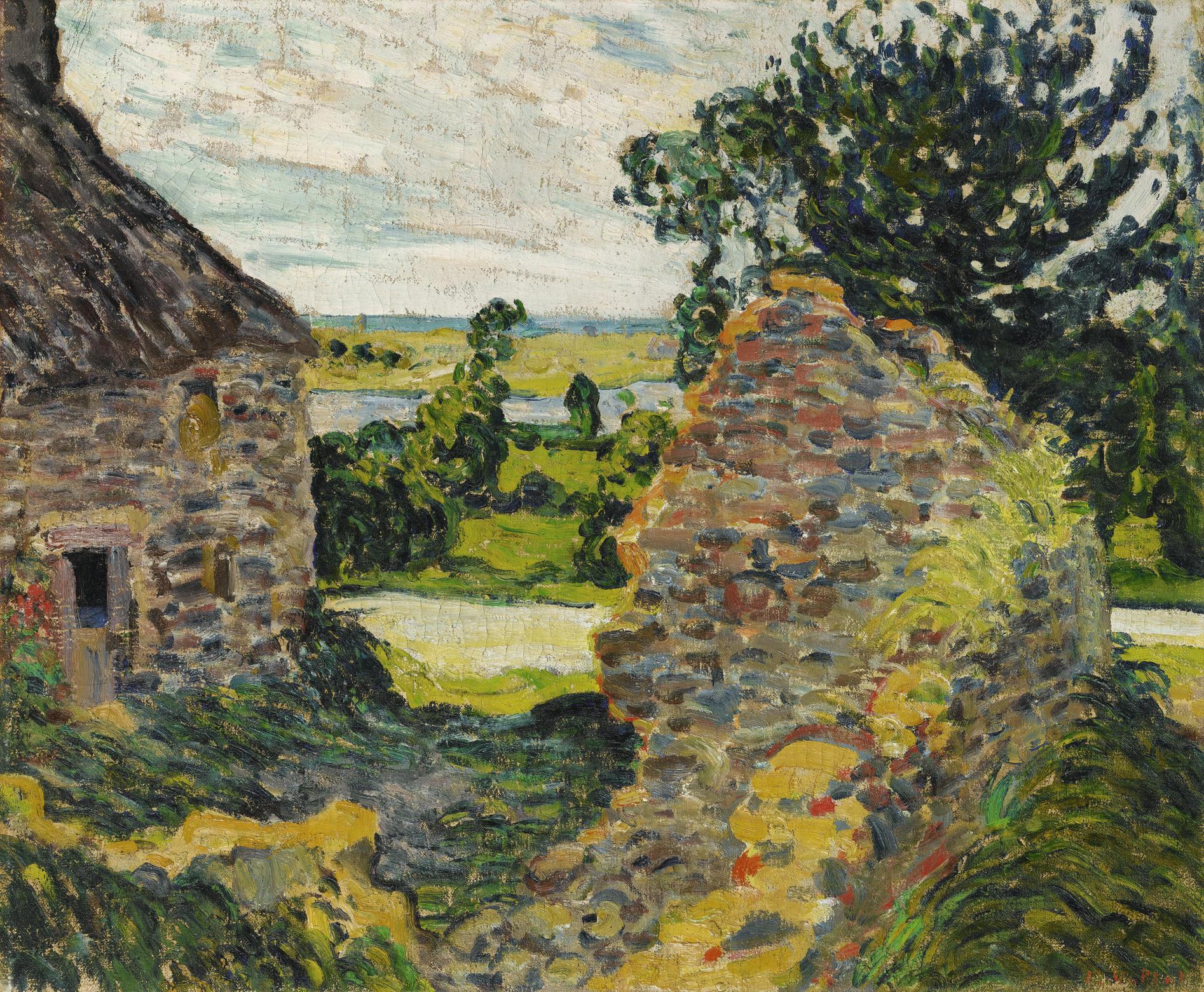 Louis Valtat-Paysage Avec Chaumiere, Normandie-1902