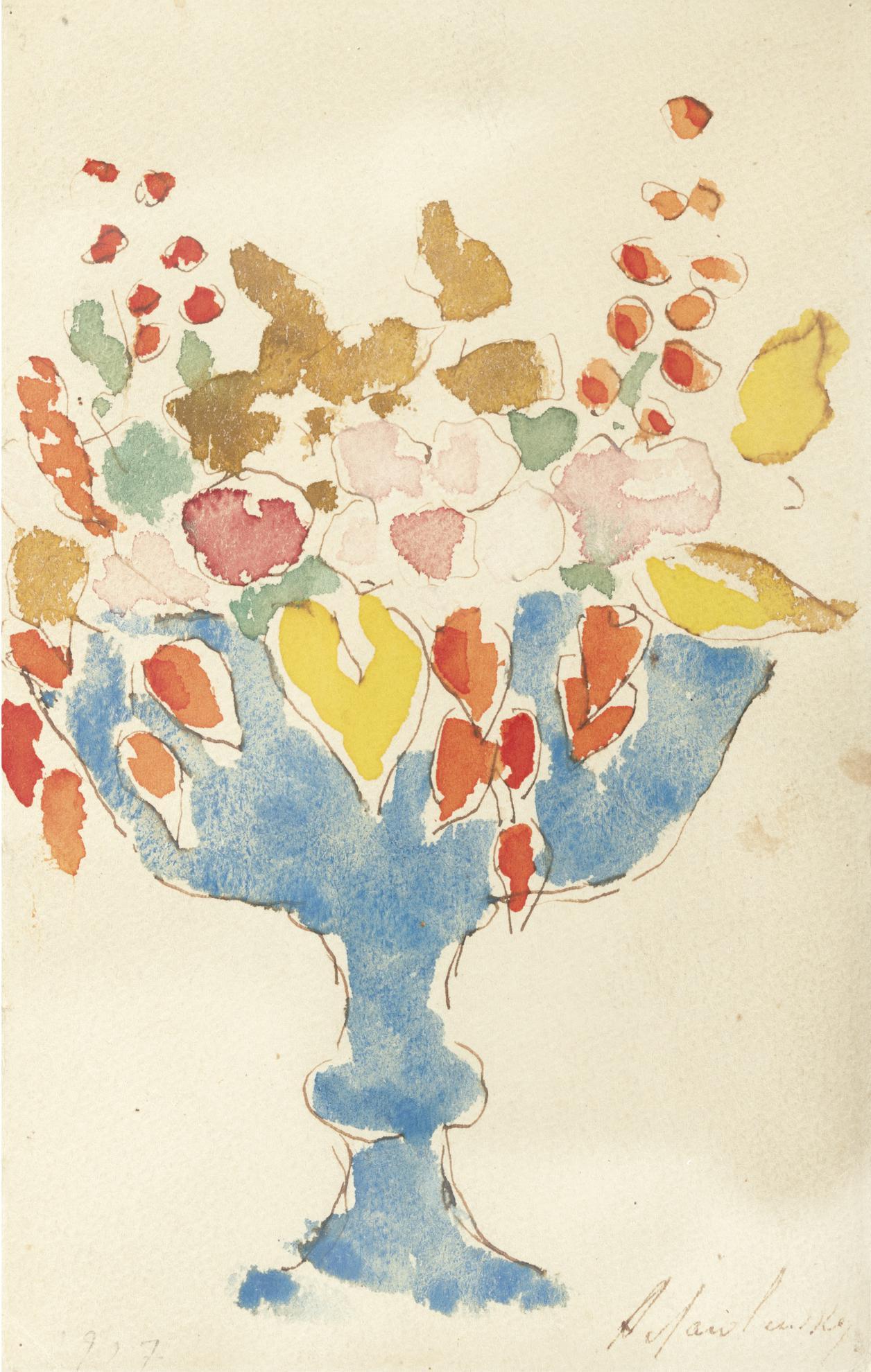 Alexej von Jawlensky-Blumen In Blauer Vase (Flowers In A Blue Vase)-1927