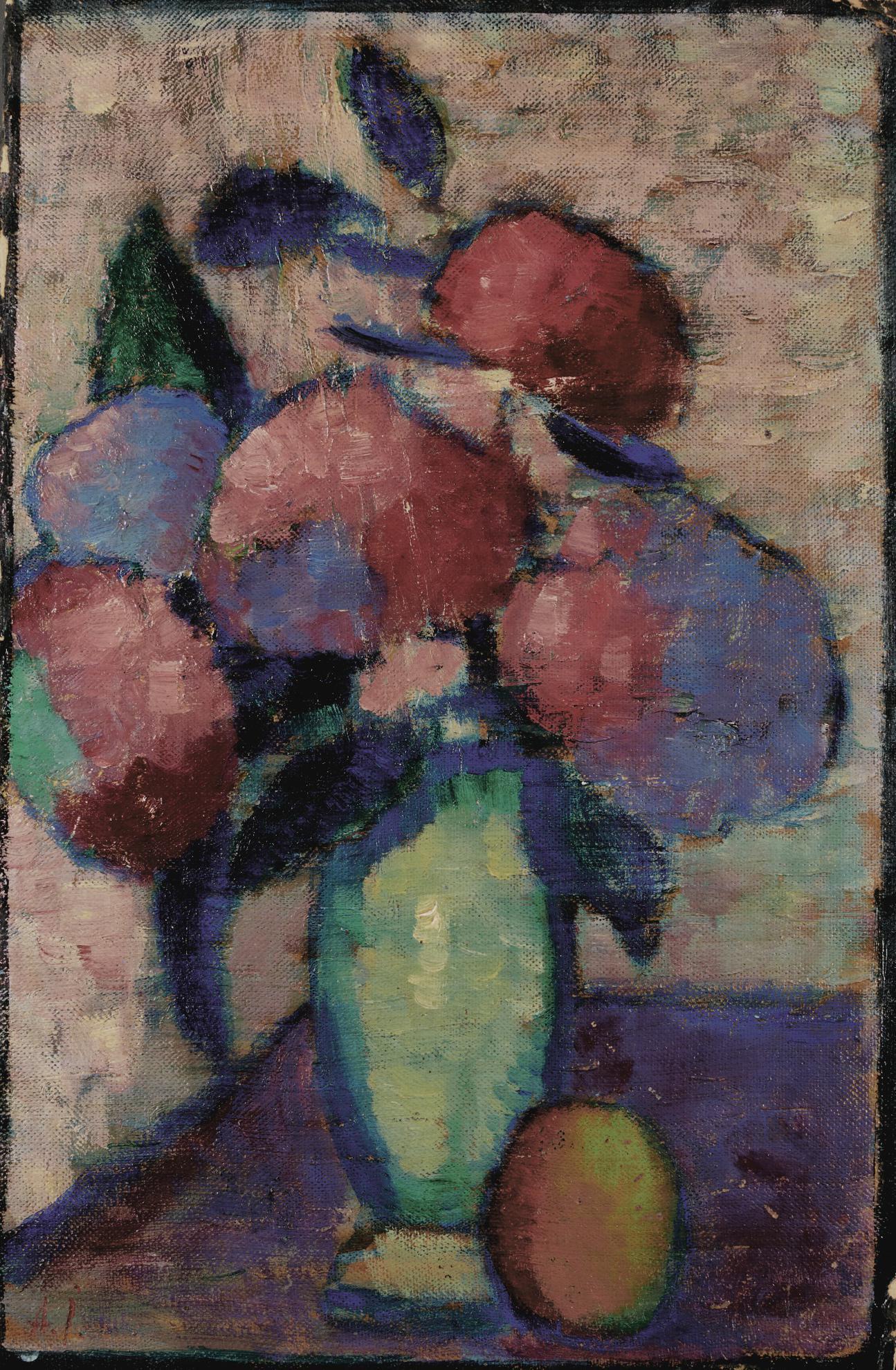 Alexej von Jawlensky-Stillleben: Blumen In Gruner Vase (Still Life: Flowers In Green Vase)-1930