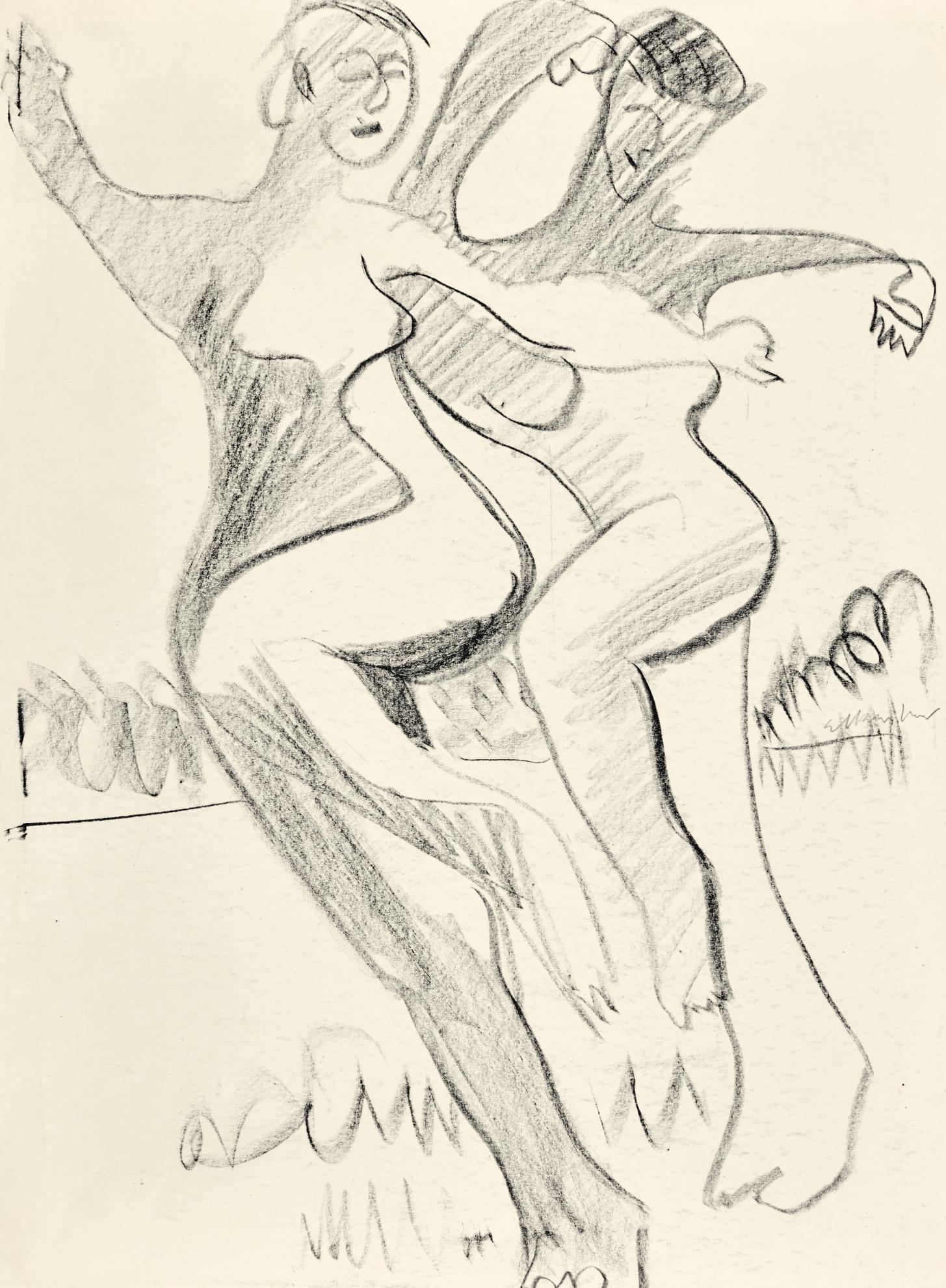 Ernst Ludwig Kirchner-Zwei Tanzerinnen (Two Dancers)-1929