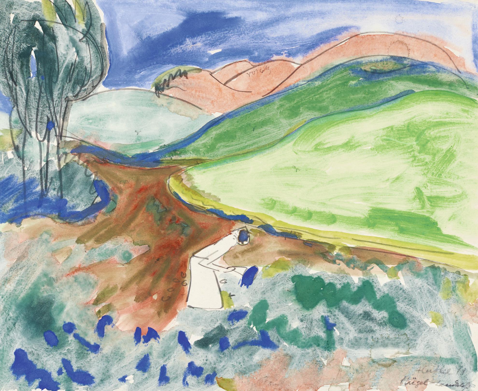 Erich Heckel-Hugel-Landschaft (Hilly Landscape)-1911