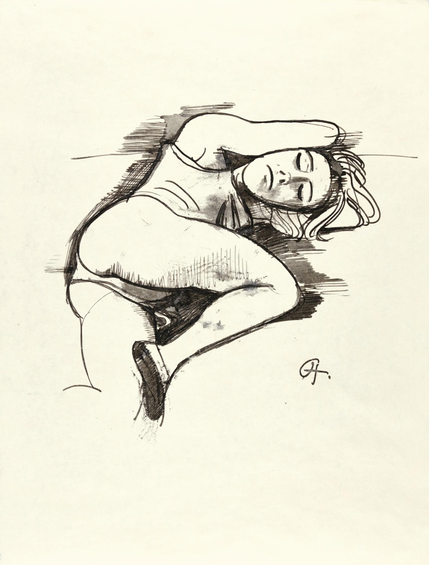 Karl Hofer-Schlafendes Madchen (Sleeping Girl)-1931
