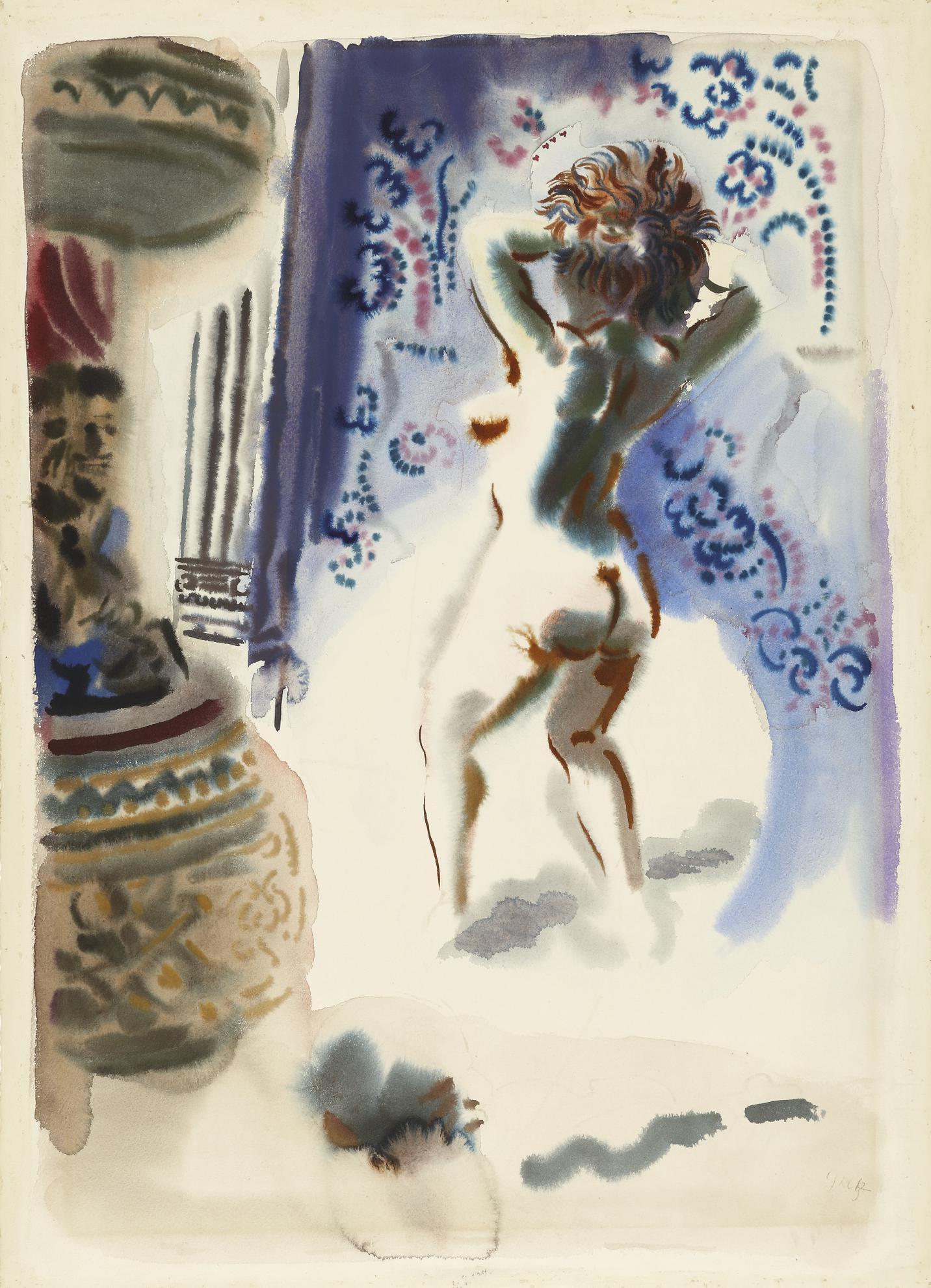 George Grosz-Burleske Tanzerin (Burlesque Dancer)-