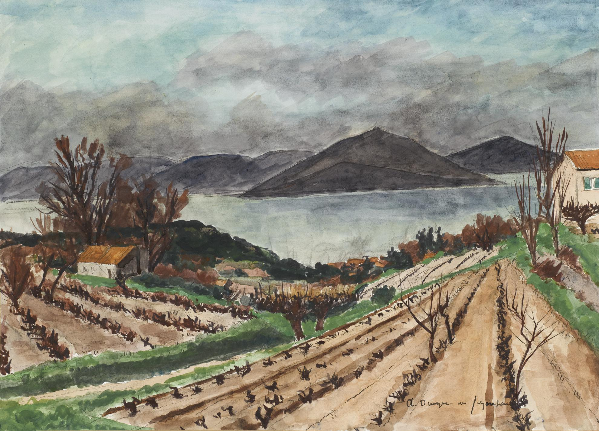 Andre Dunoyer de Segonzac-La Baie De St Tropez-1929
