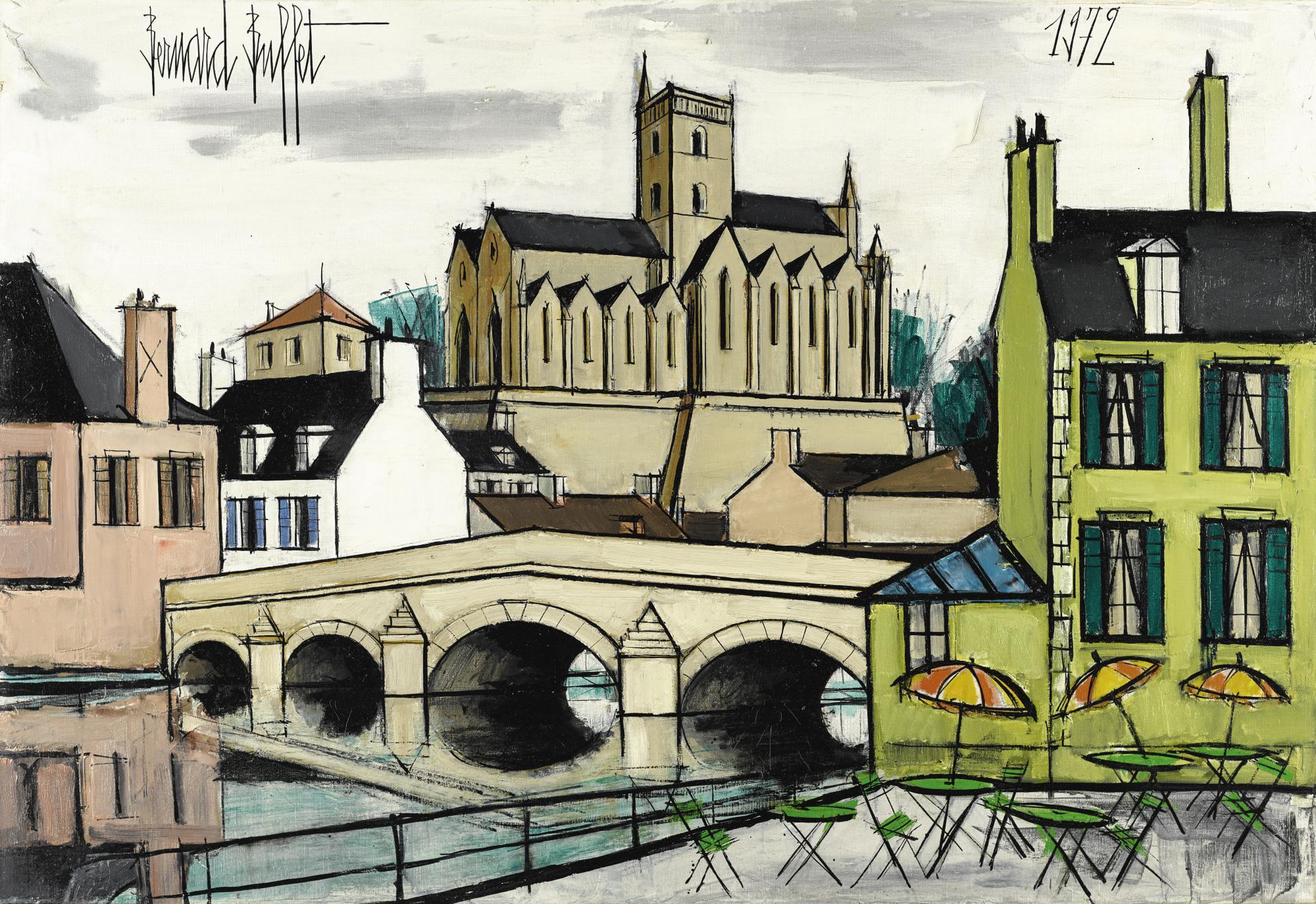 Bernard Buffet-Eglise Notre-Dame, Lamballe-1972