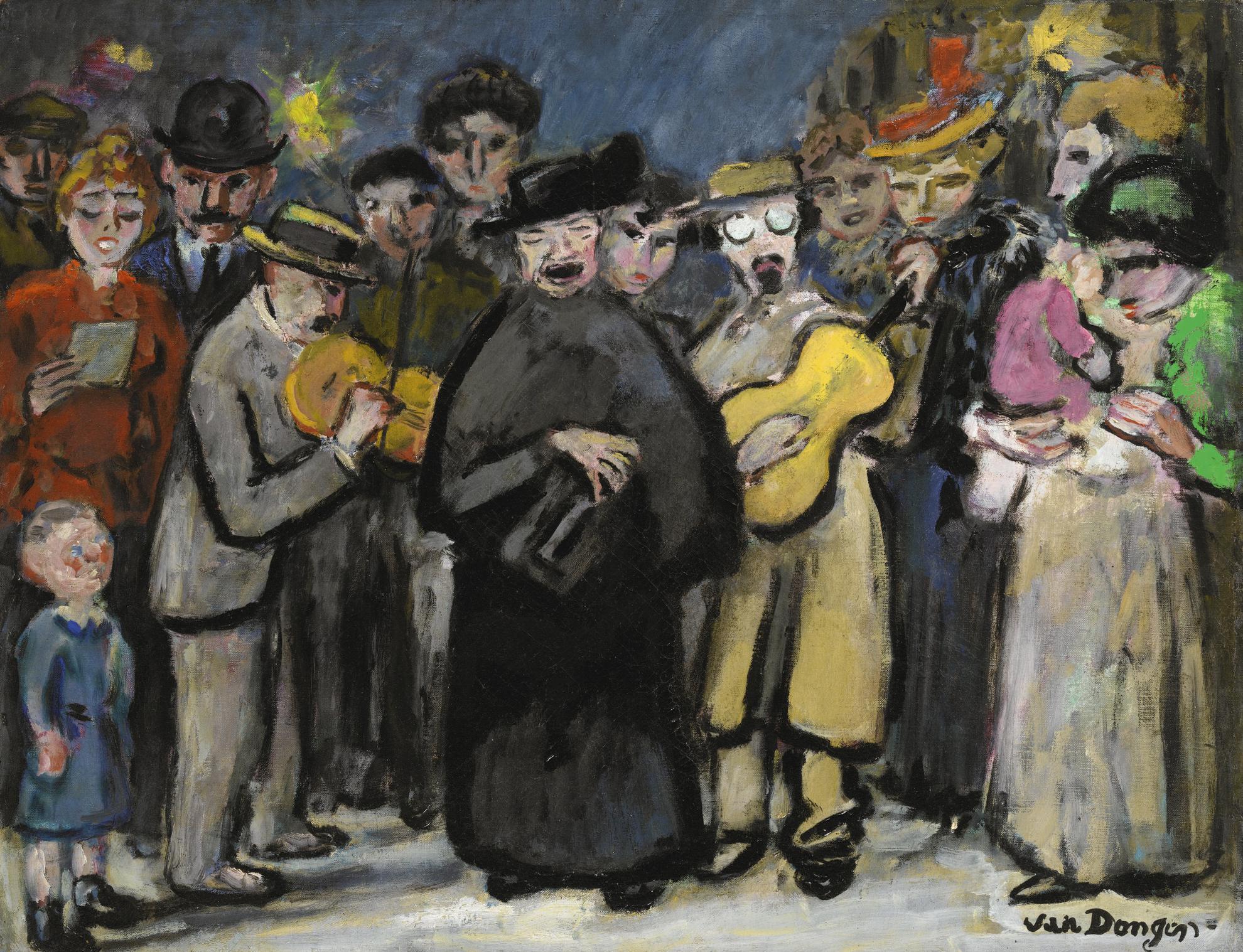 Kees van Dongen-Chanteurs De Rue-1950
