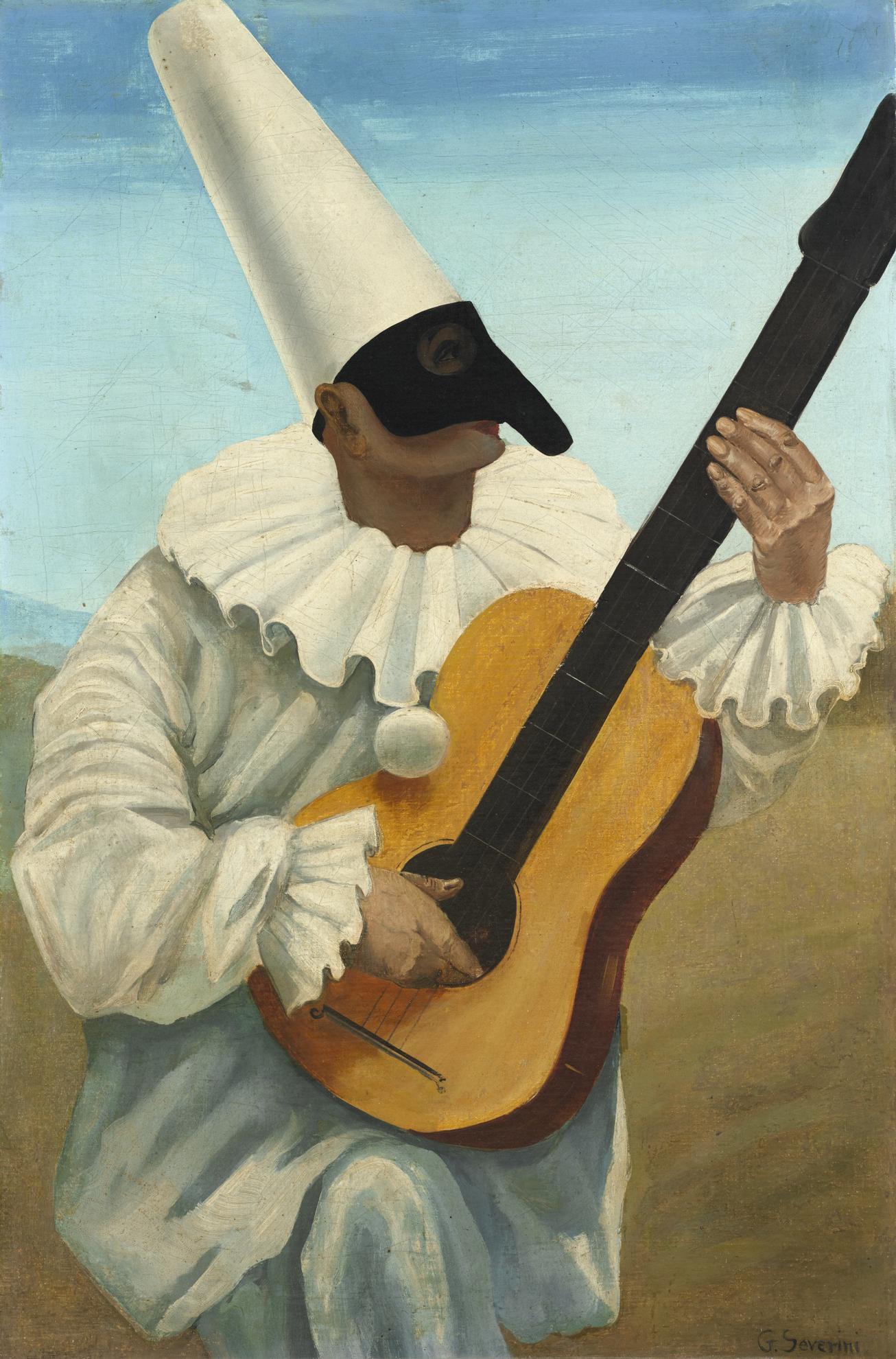 Gino Severini-Pulcinella Con Chitarra (Pulcinella With Guitar)-1923