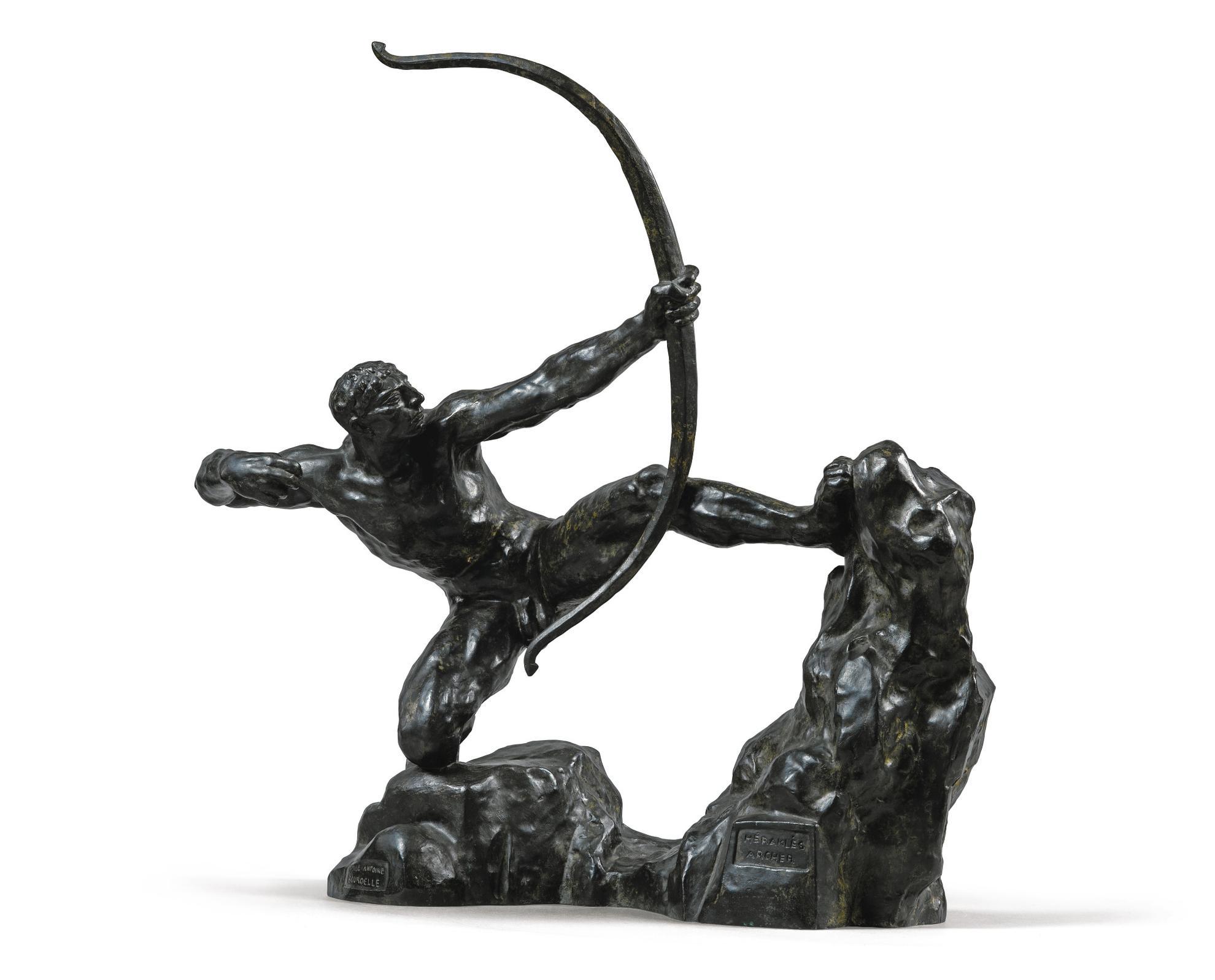 Emile Antoine Bourdelle - Herakles Archer, Huitieme Etude, Modele Intermediaire Definitif-1909
