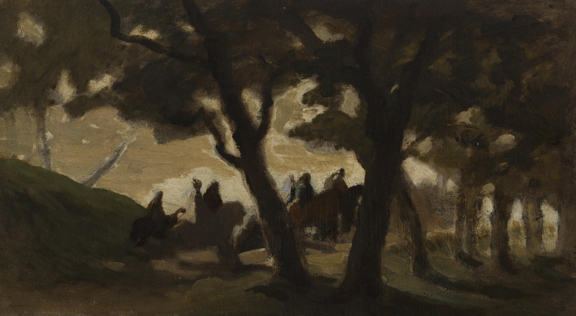 Honore Daumier-Cavaliers Dans La Foret-1848