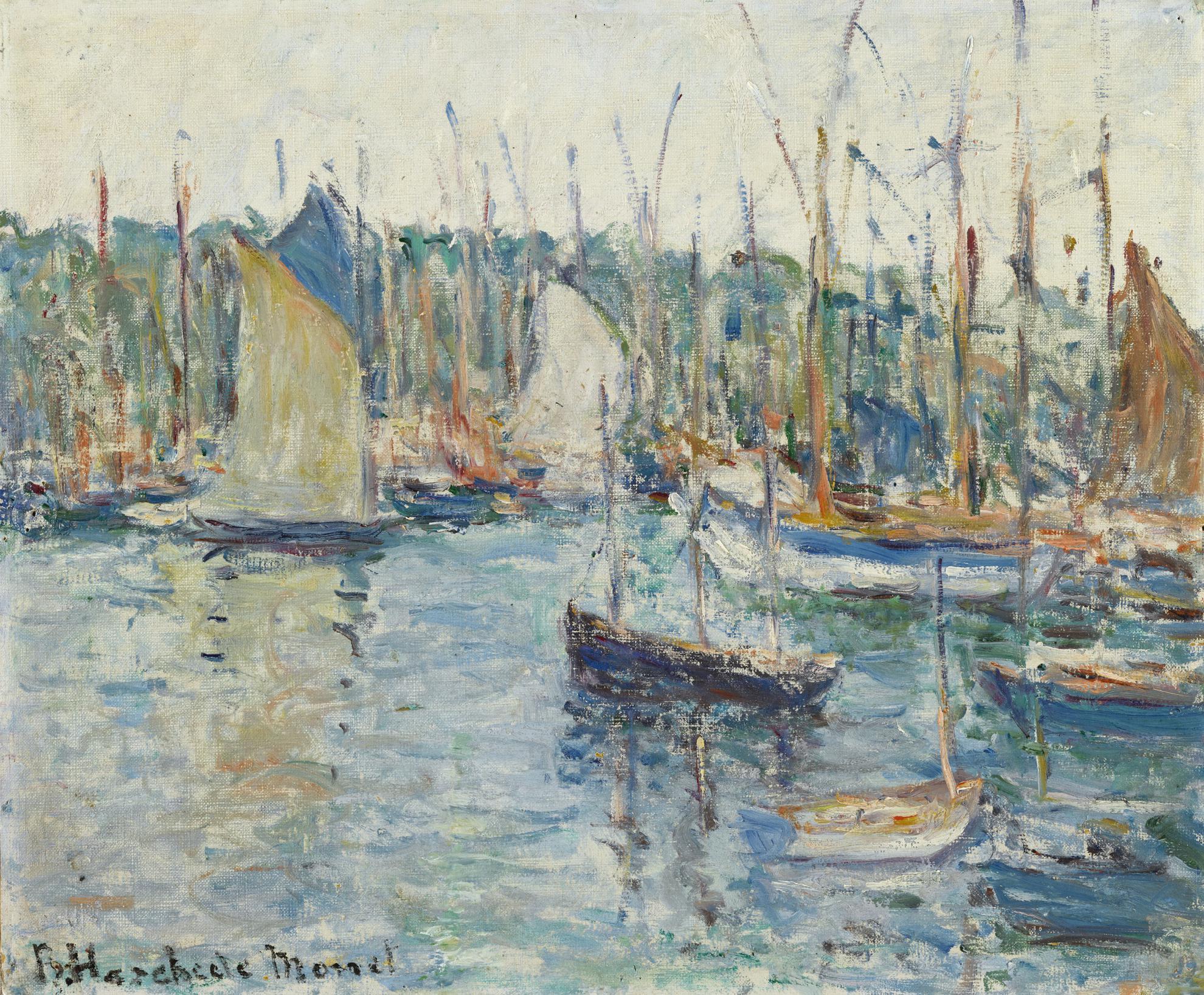 Blanche Hoschede-Monet - Bateaux Au Port-