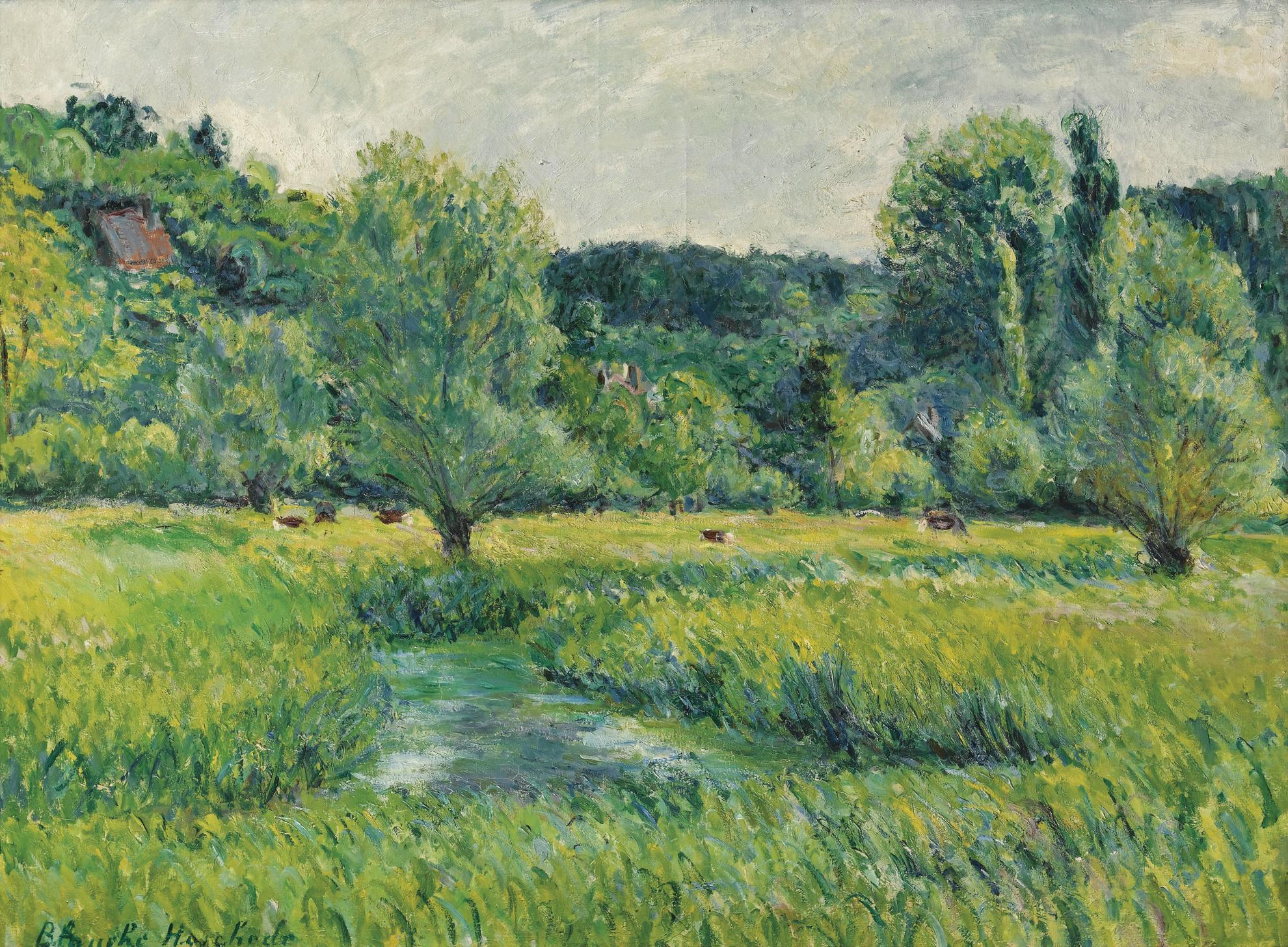 Blanche Hoschede-Monet - Lepte Dans La Prairie-
