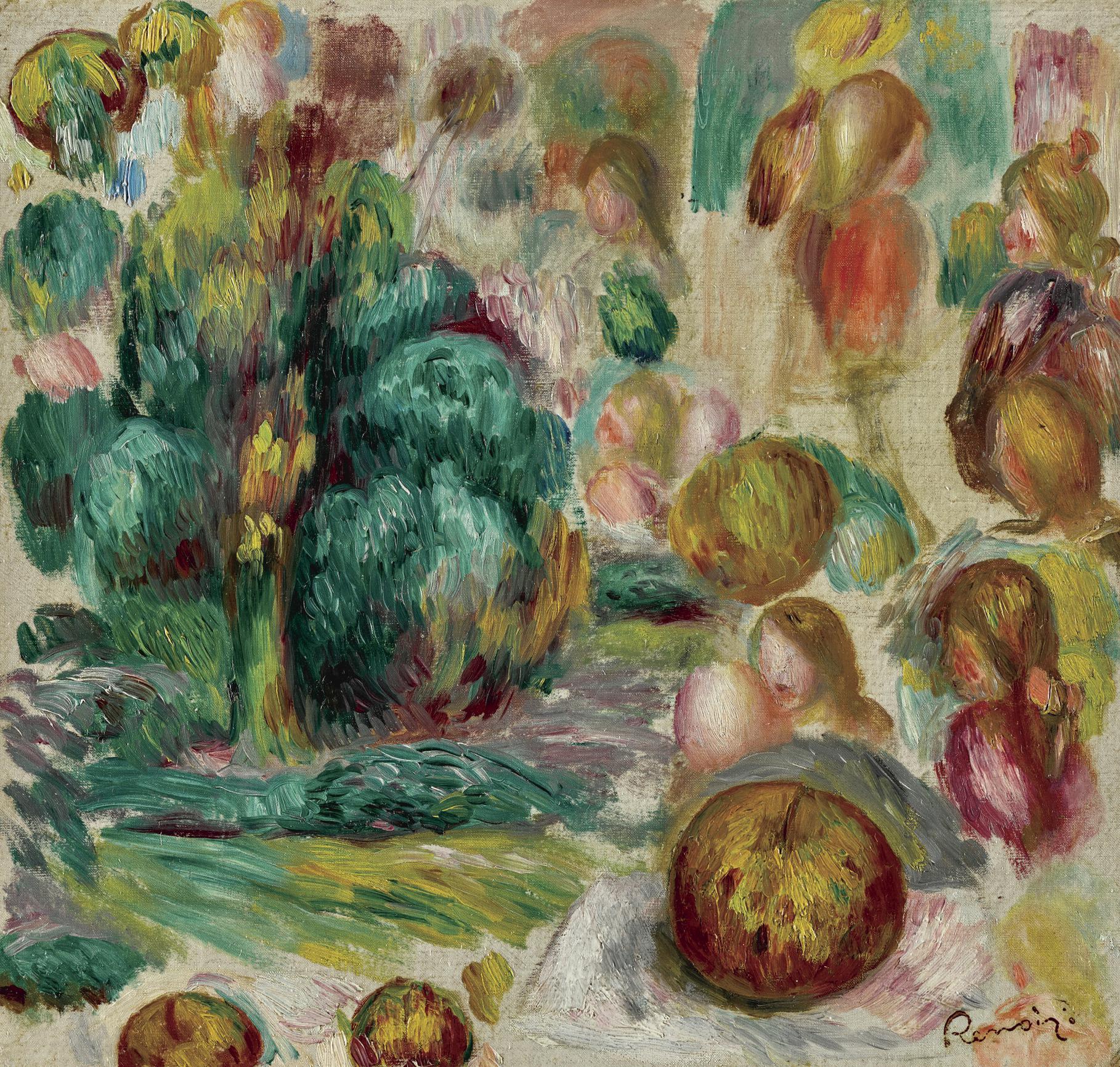 Pierre-Auguste Renoir-Tetes, Arbres Et Fruits-1892