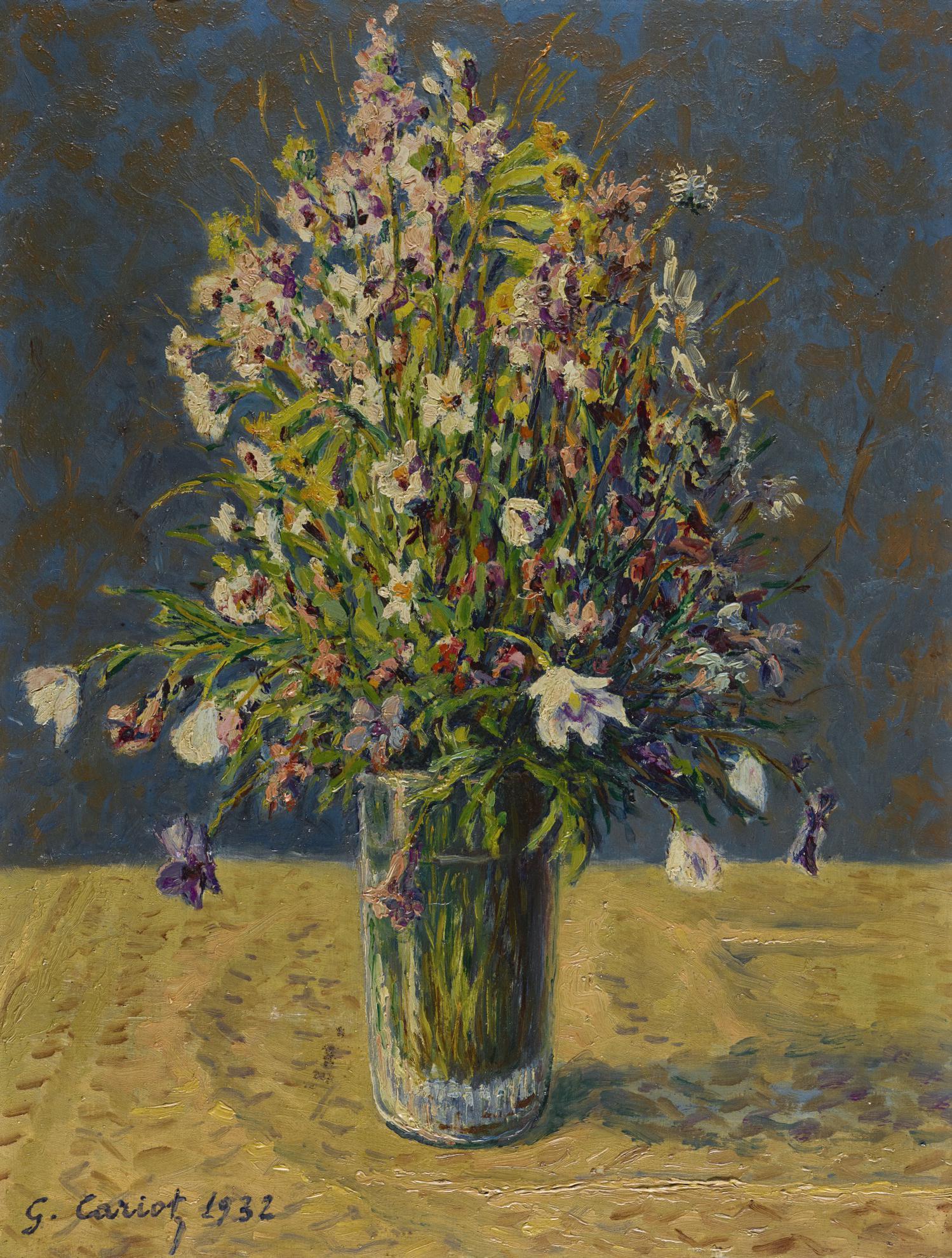 Gustave Cariot-Bouquet De Fleurs-1932