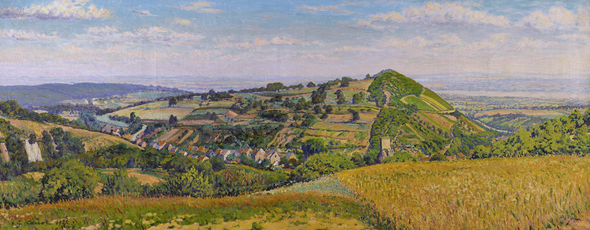 Gustave Cariot-Paysage De Rhenanie-1921