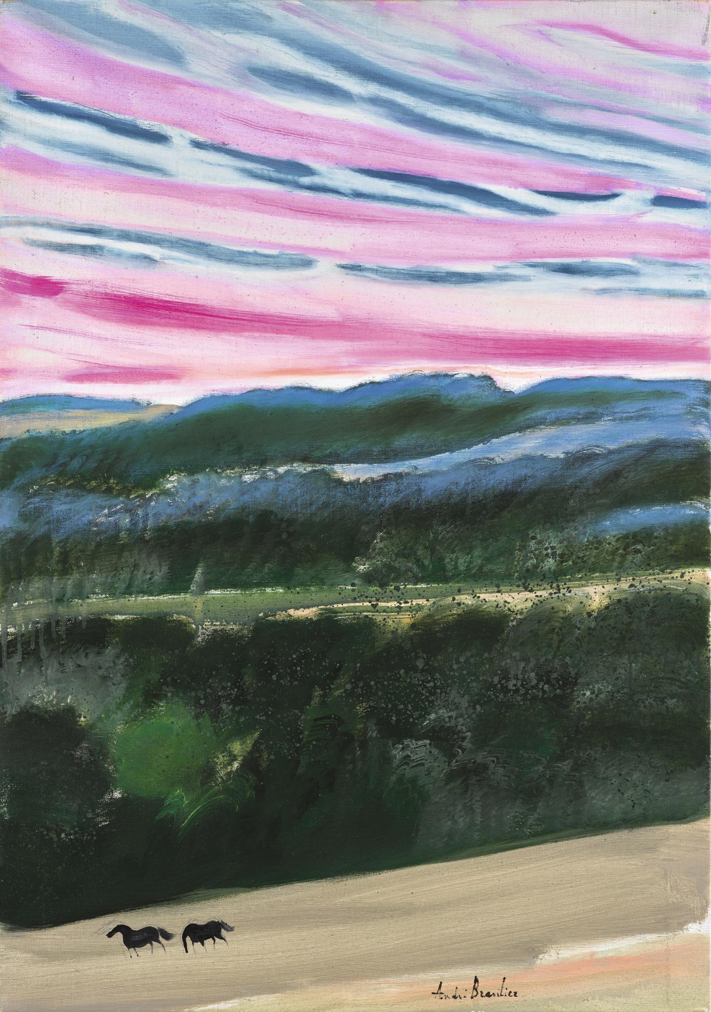 Andre Brasilier-Vallee Au Crepuscule-1988