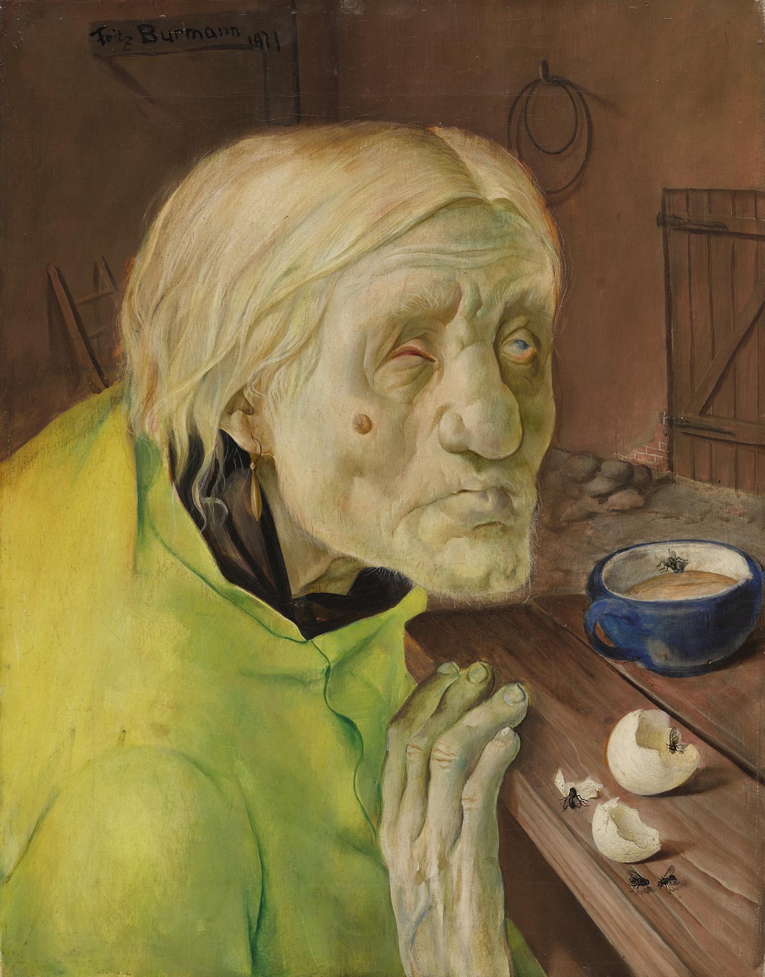 Fritz Burmann - Frau Biene Aus Worpswede, 87 Jahre Alt (Mrs Biene From Worpswede, 87 Years Old)-1923