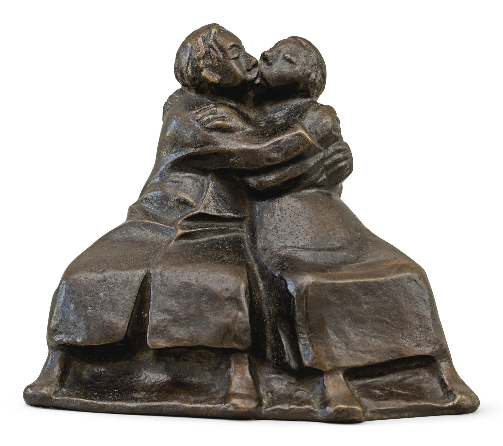 Ernst Barlach-Kussgruppe Ii (Kissing Couple Ii)-1921