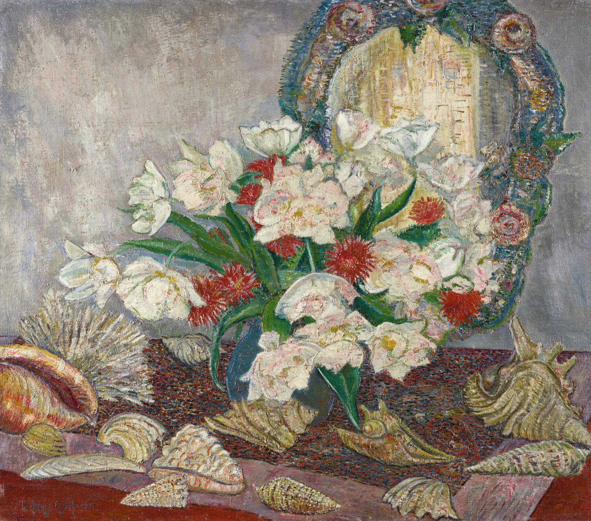 Leon De Smet-Fleurs Et Coquillages-1921