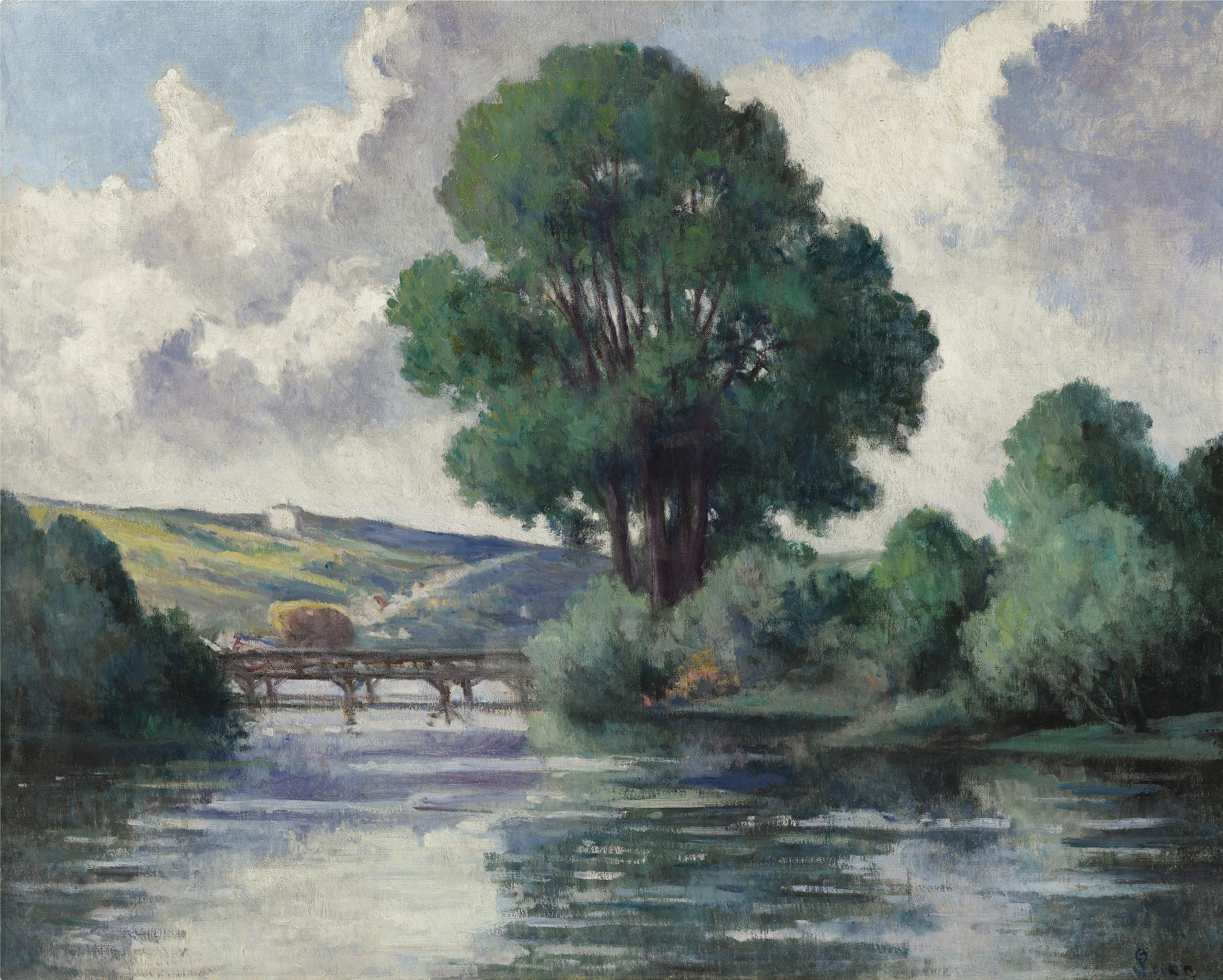 Maximilien Luce-La Passerelle Dherville-1925