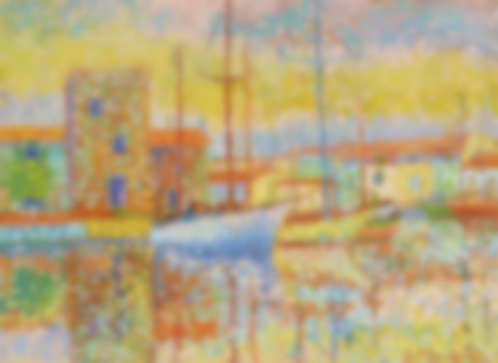 Serge Mendjisky-Port Grimaud - Grand Canal-1969
