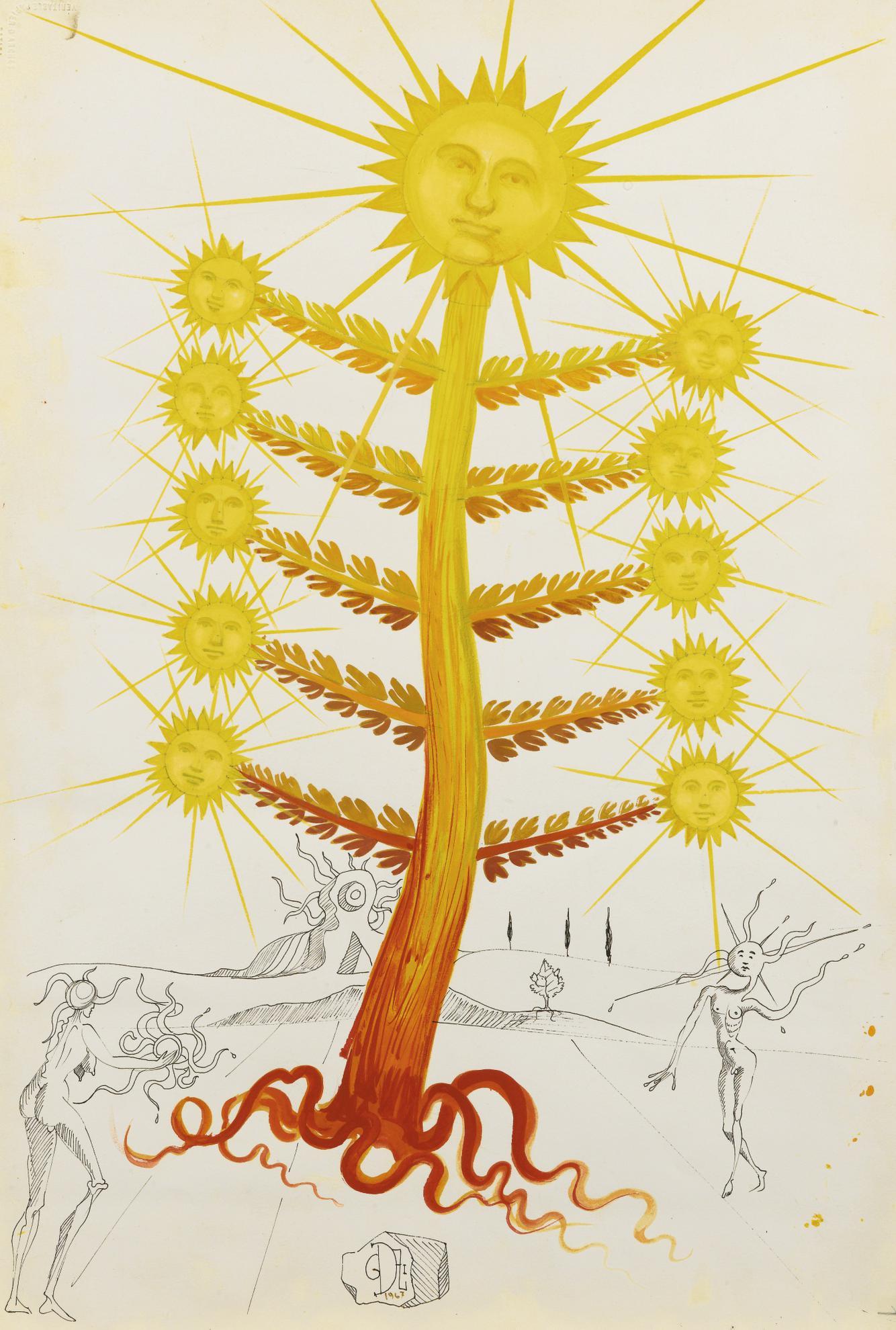 Salvador Dali-Flor Dali (Etude)-1967
