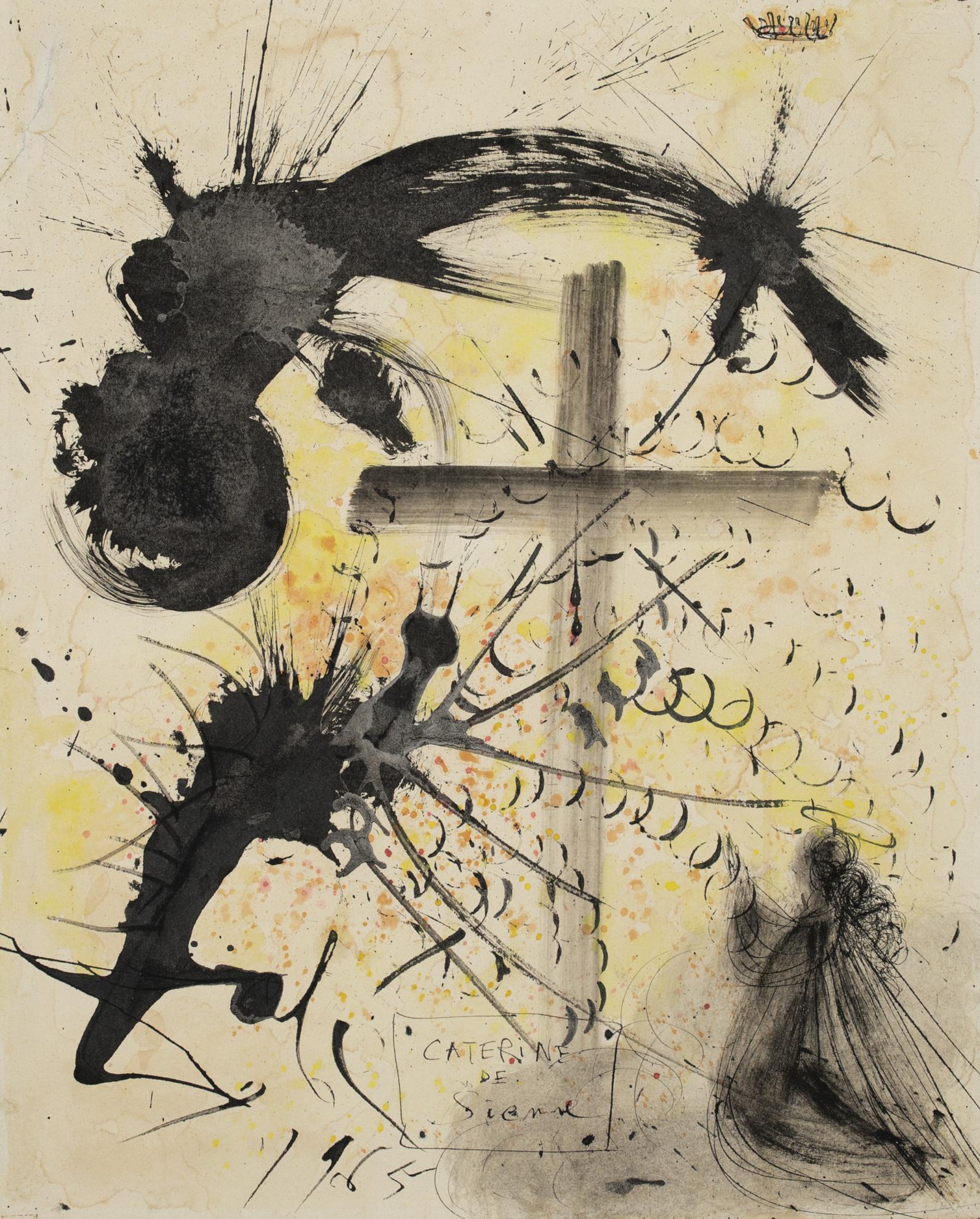 Salvador Dali-Caterine De Sienne-1965