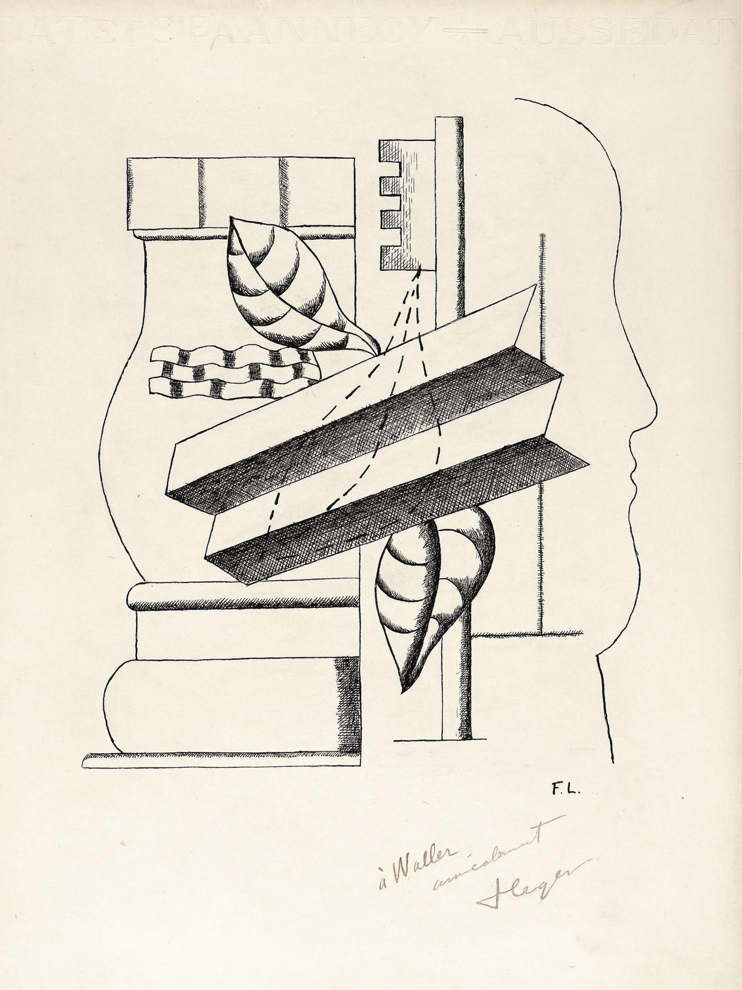 Fernand Leger-Nature Morte A La Clef-1928