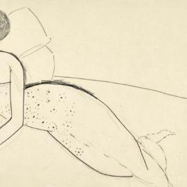 Amedeo Modigliani-Femme A La Robe Decolletee Allongee Sur Un Lit (Anna Akhmatova)-1911