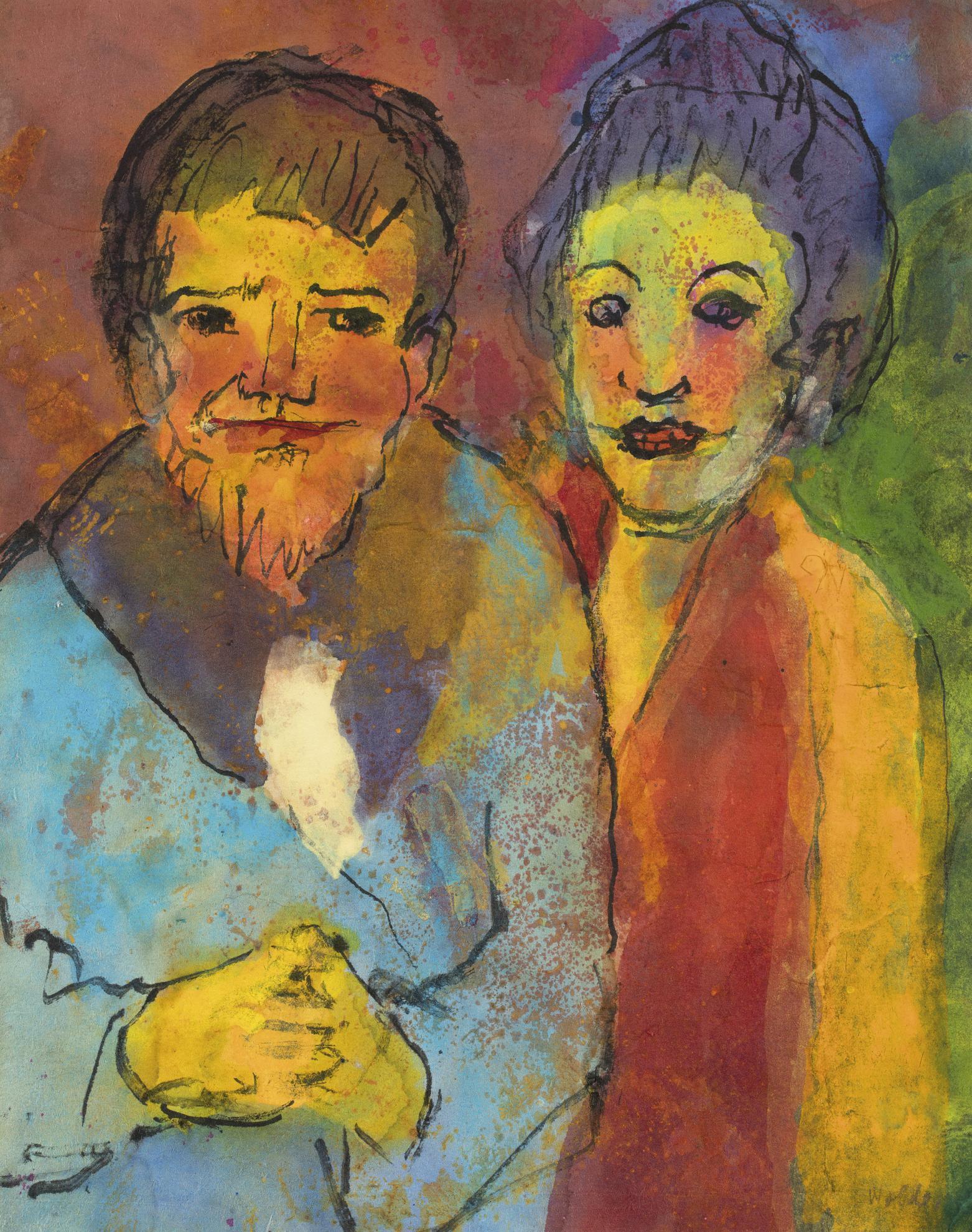 Emil Nolde-Bartiger Mann Und Frau (Bearded Man And Woman)-1935