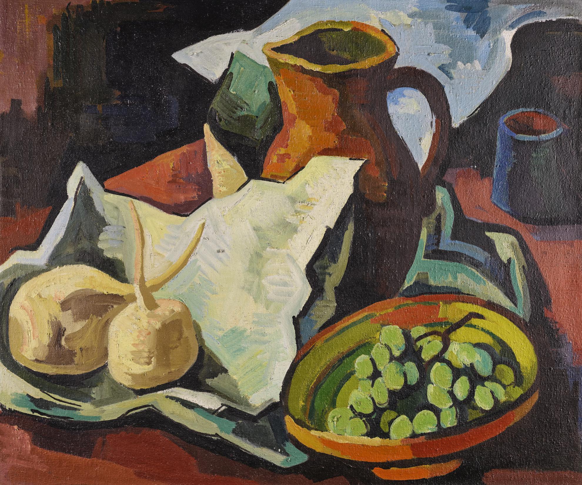 Karl Schmidt-Rottluff-Stillleben Mit Krug (Still Life With Jug)-1927