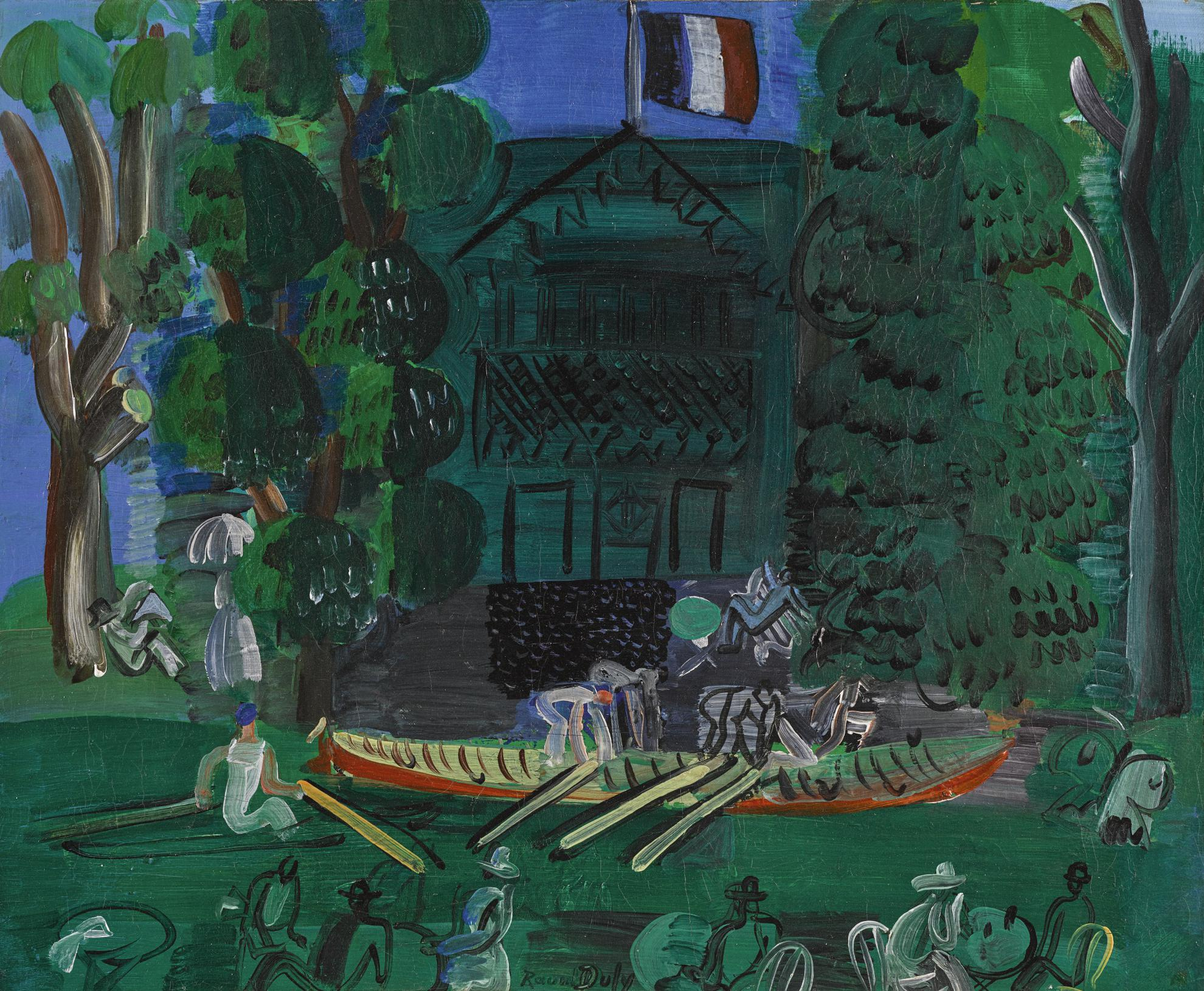 Raoul Dufy-Canotiers Sur La Marne-1926