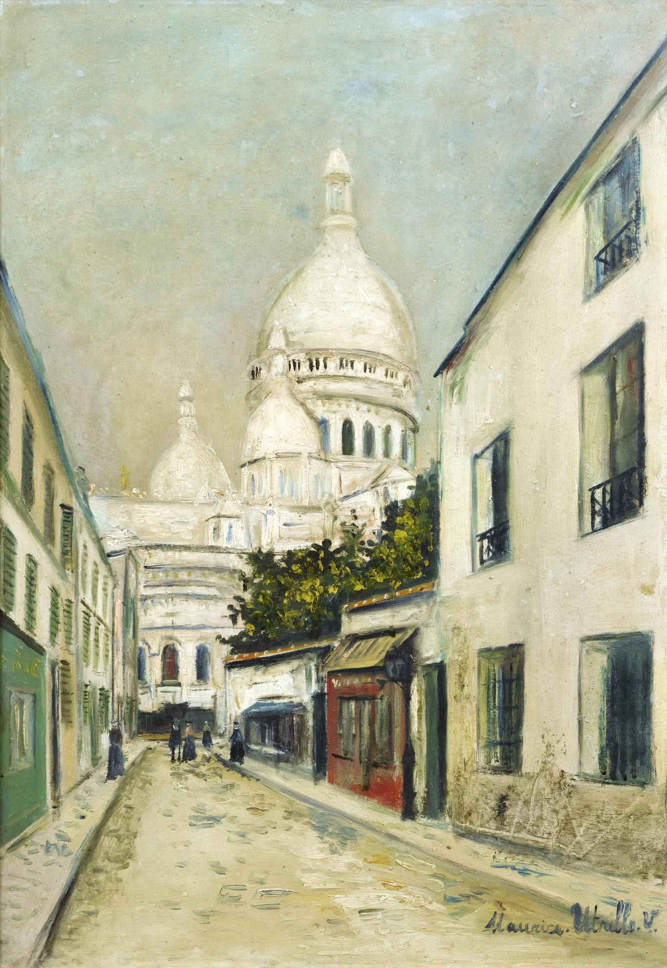 Maurice Utrillo-Rue Chevalier De La Barre, Montmartre-1918