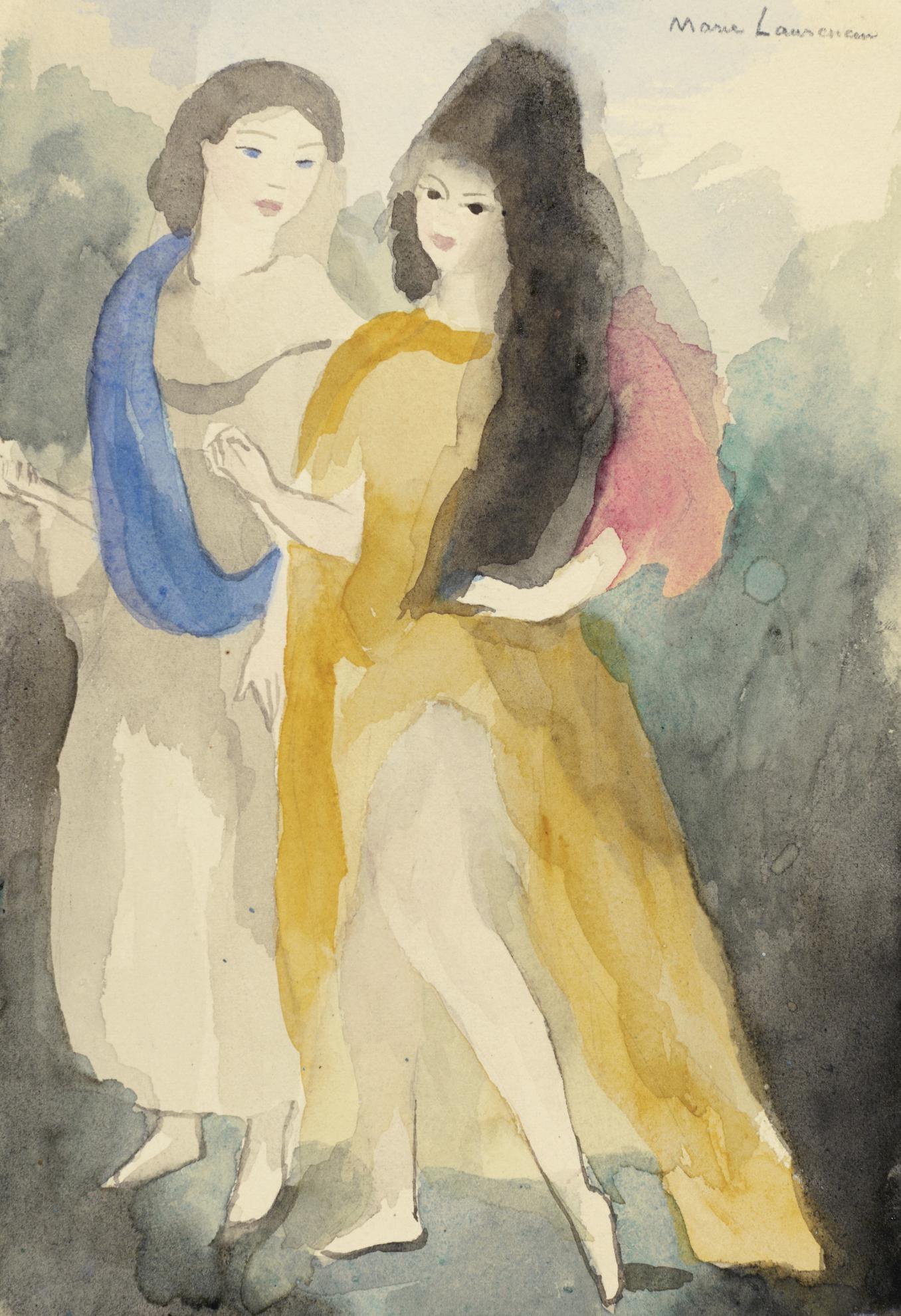 Marie Laurencin-Deux Jeunes Filles-