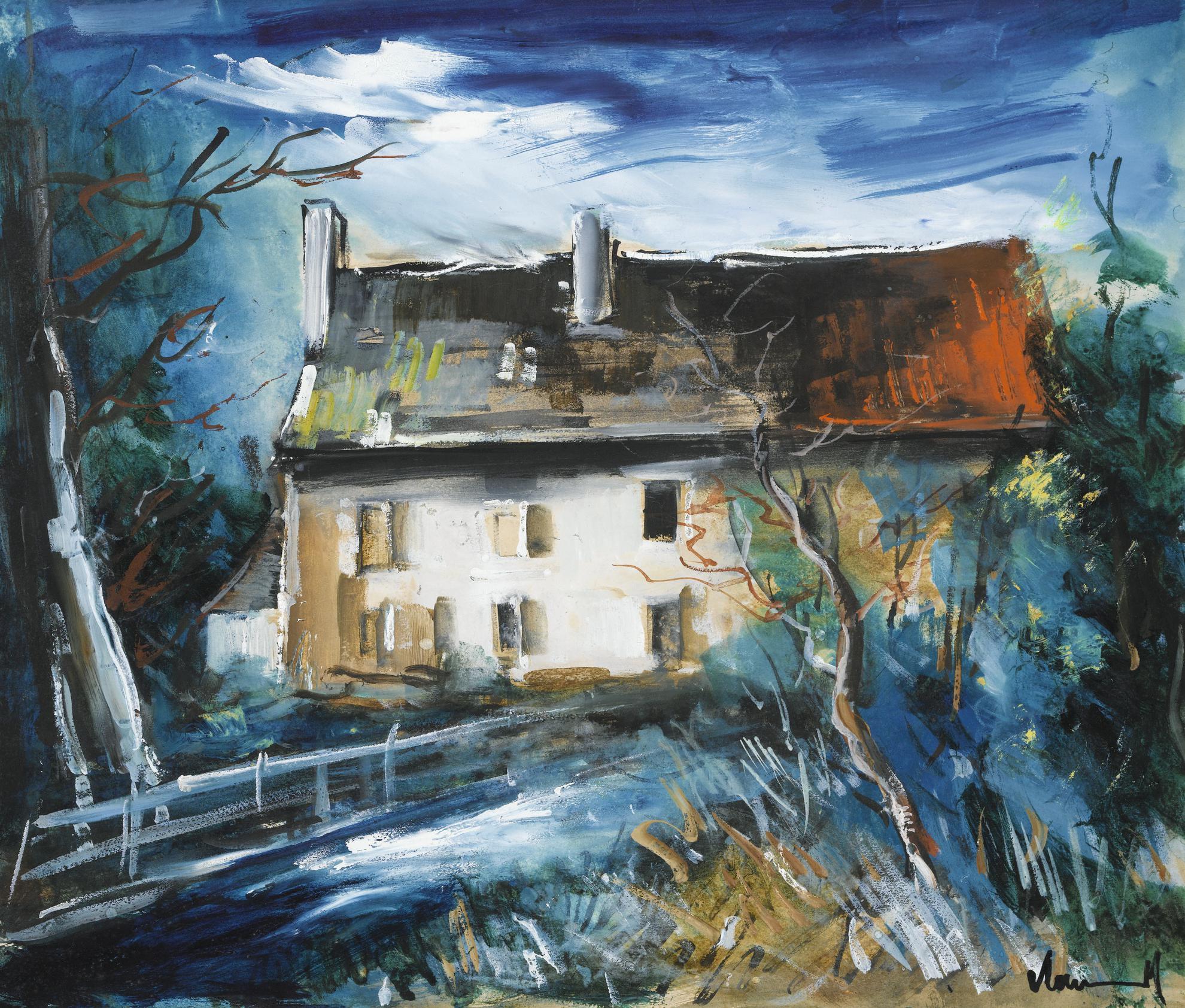 Maurice de Vlaminck-Maison Au Bord De Leau-1936