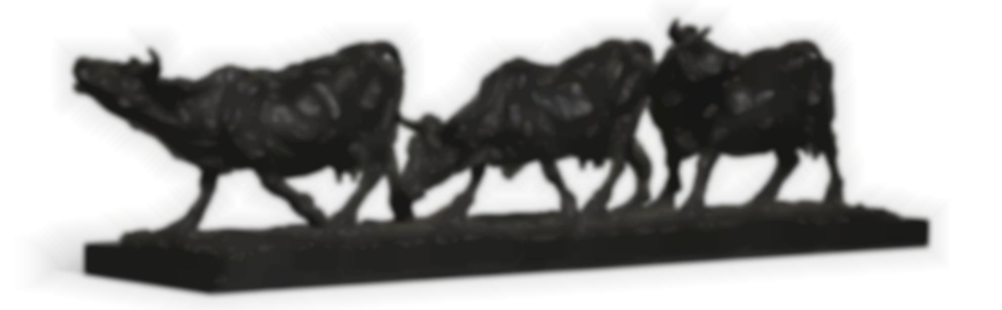 Rembrandt Bugatti-Groupe De Trois Vaches-1901