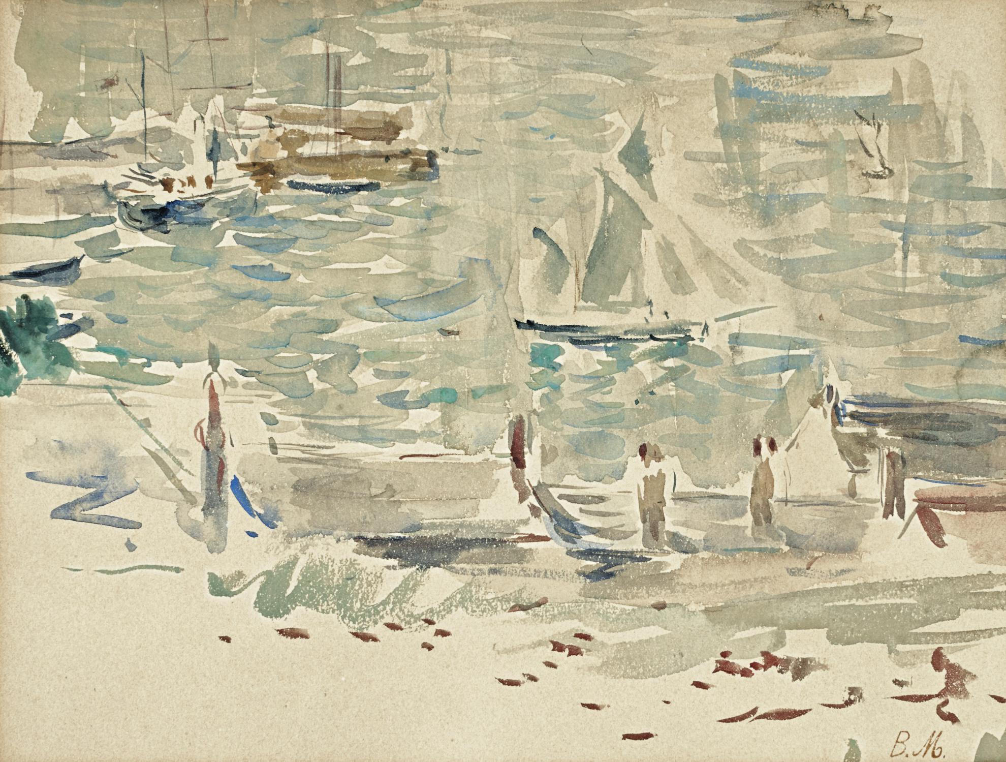 Berthe Morisot-Le Port De Gorey-1886