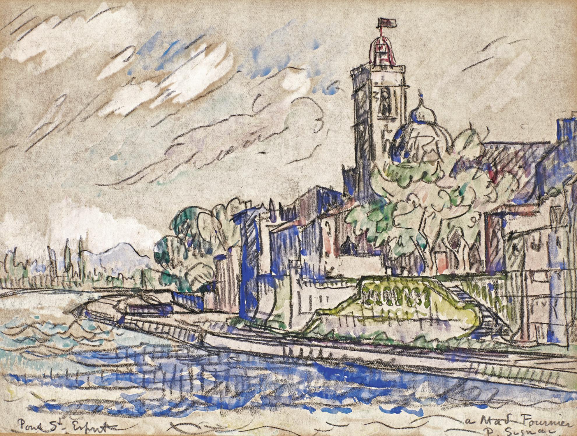 Paul Signac-Pont Saint-Esprit-1922