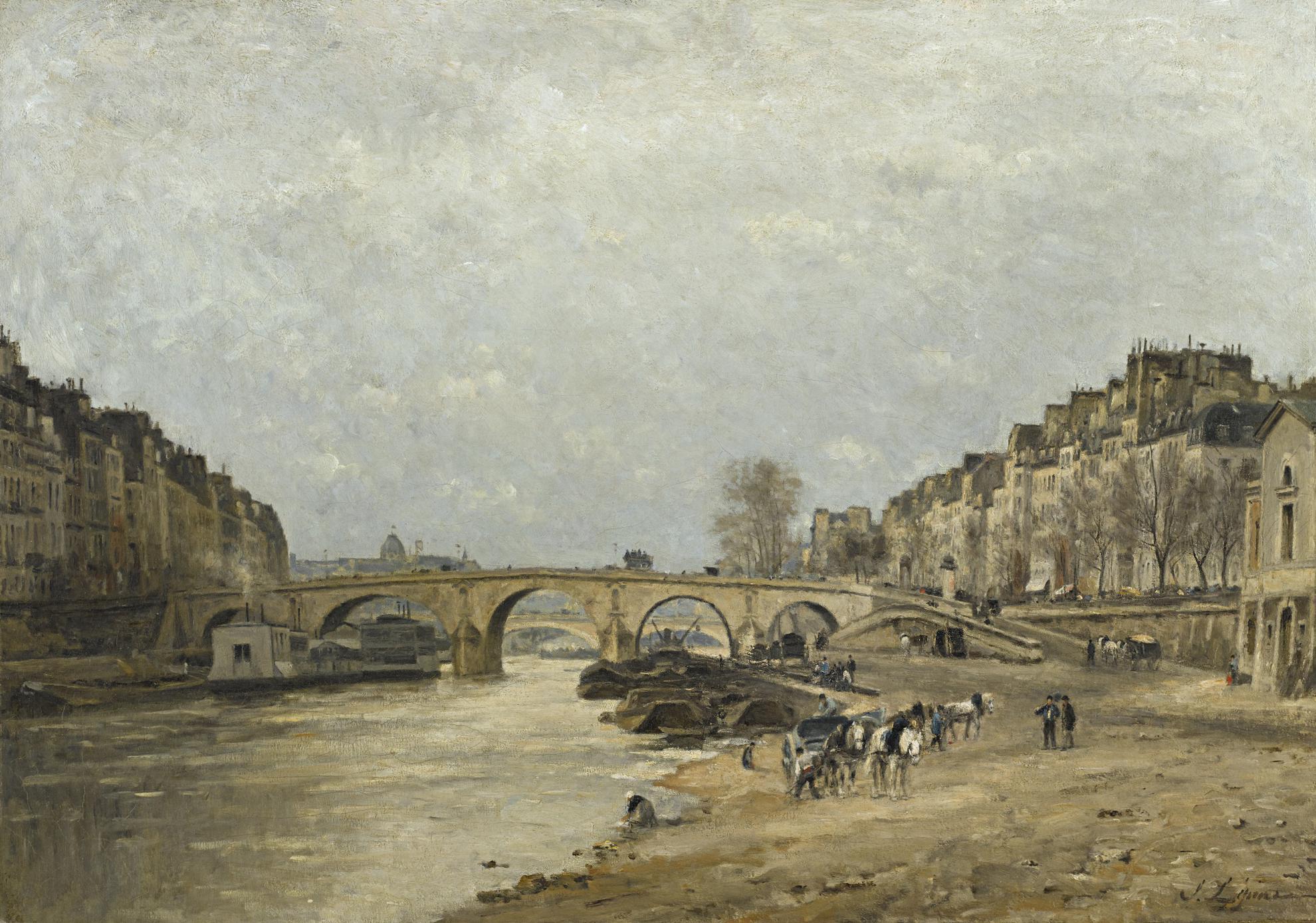 Stanislas Lepine-La Seine Au Pont Marie-1877