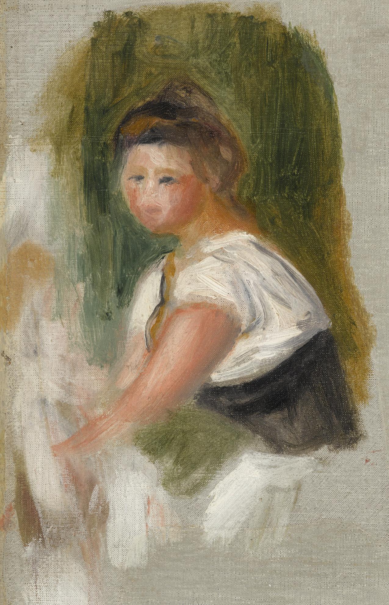 Pierre-Auguste Renoir-Buste De Femme - Fragment-1895