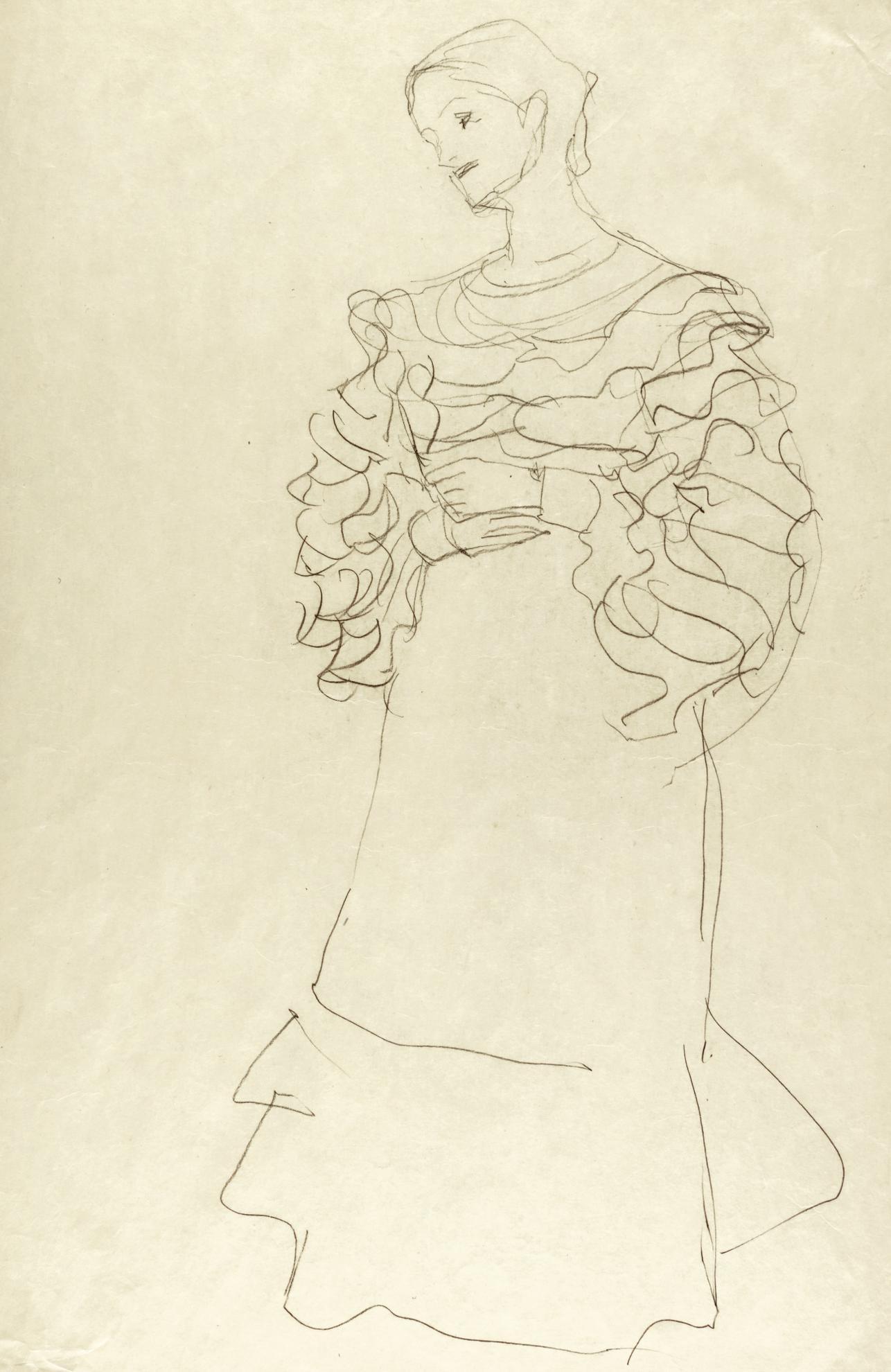 Gustav Klimt-Bildnis Magda Mautner-Markhof - Studie (Portrait Of Magda Mautner-Markhof - Study)-1904