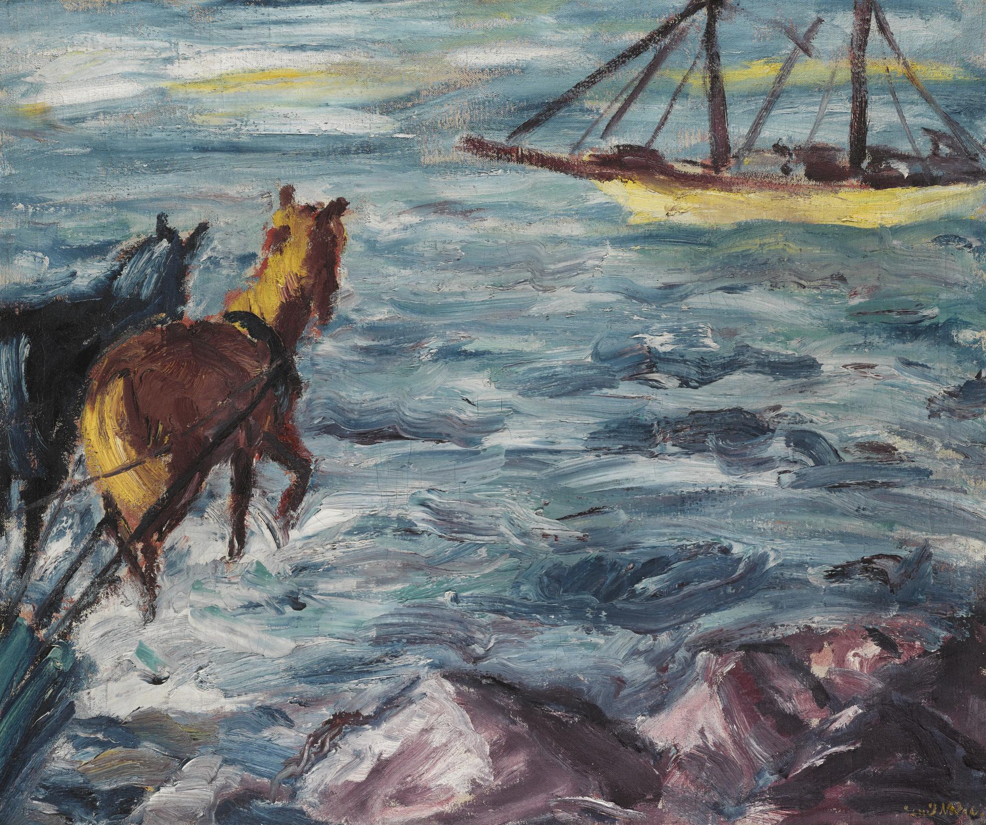Emil Nolde-Einschiffung (Embarkation)-1911