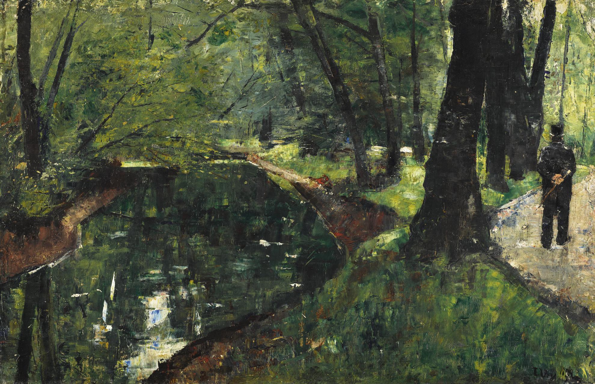 Lesser Ury-Am Neuen See (At The Neue Lake)-1889